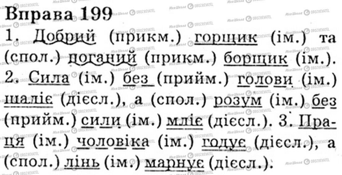 ГДЗ Укр мова 6 класс страница Bnp.199