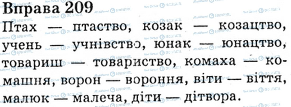 ГДЗ Укр мова 6 класс страница Bnp.209