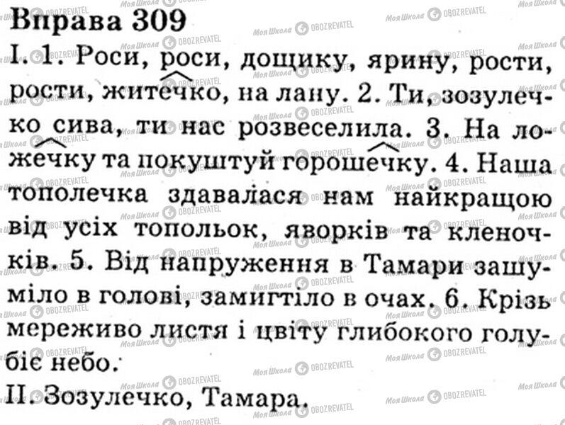 ГДЗ Укр мова 6 класс страница Bnp.309