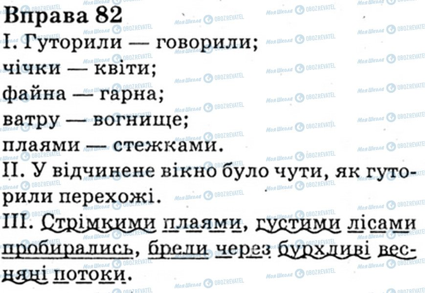 ГДЗ Укр мова 6 класс страница Bnp.82