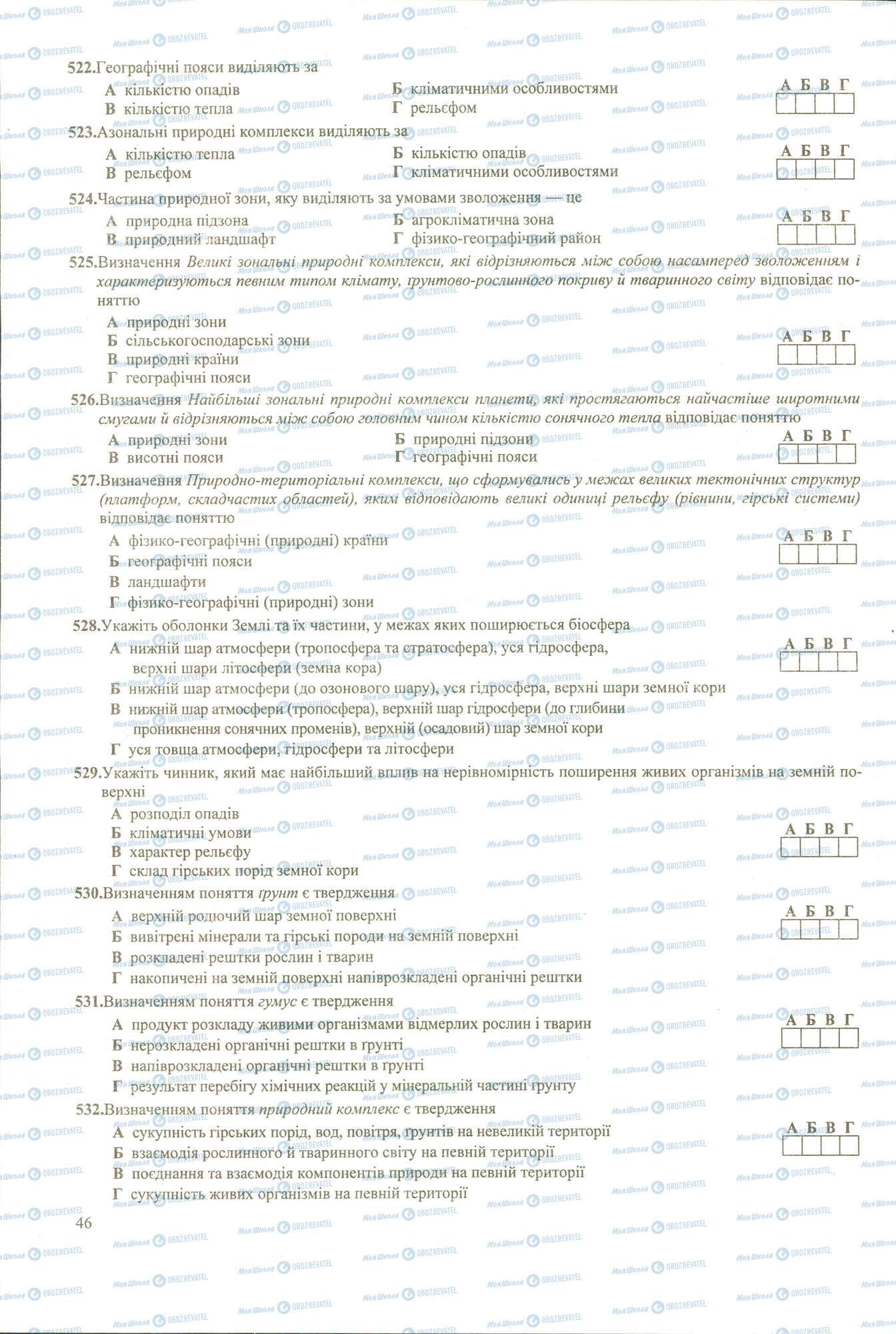 ЗНО География 11 класс страница 522-532