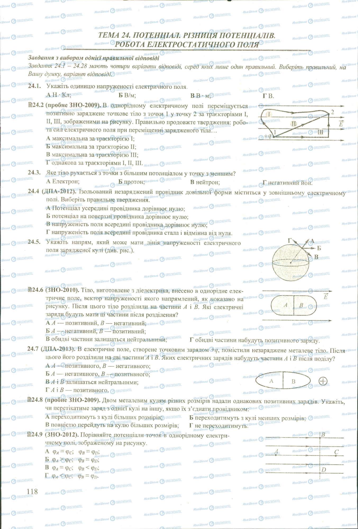 ЗНО Физика 11 класс страница 1-9