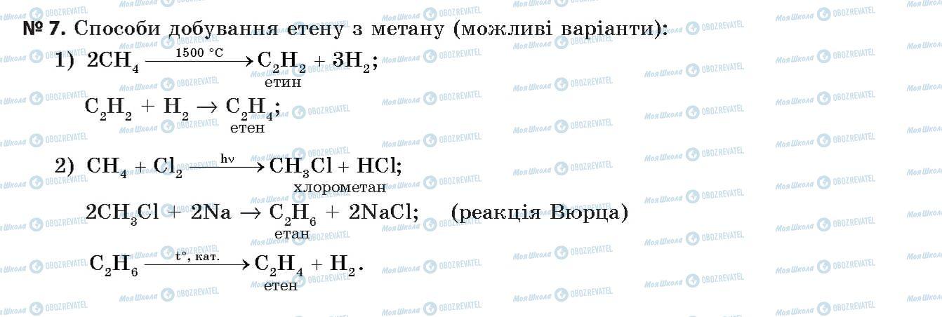ГДЗ Хімія 11 клас сторінка 7
