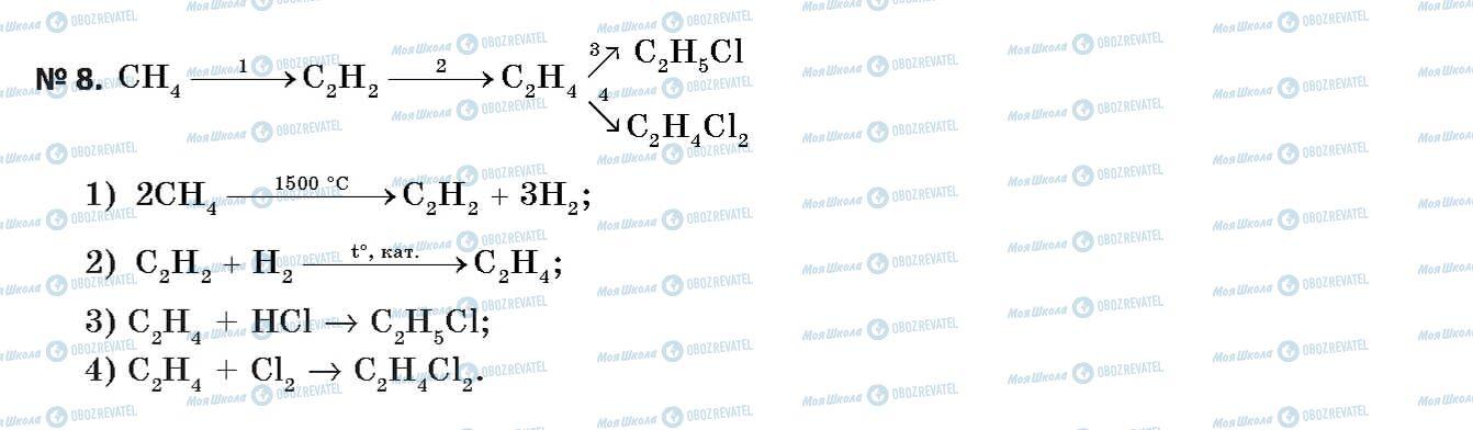 ГДЗ Хімія 11 клас сторінка 8