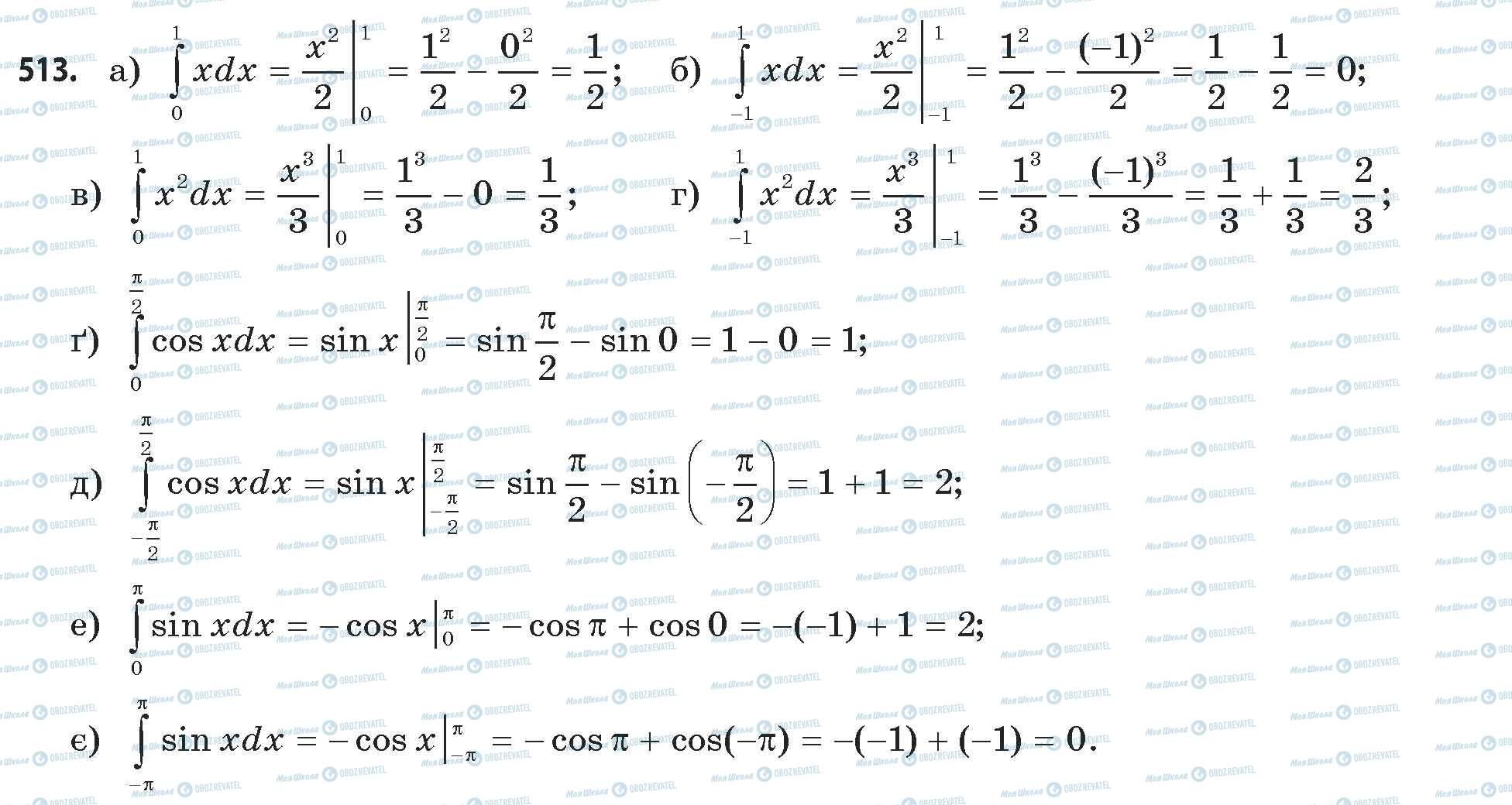 ГДЗ Математика 11 класс страница 513