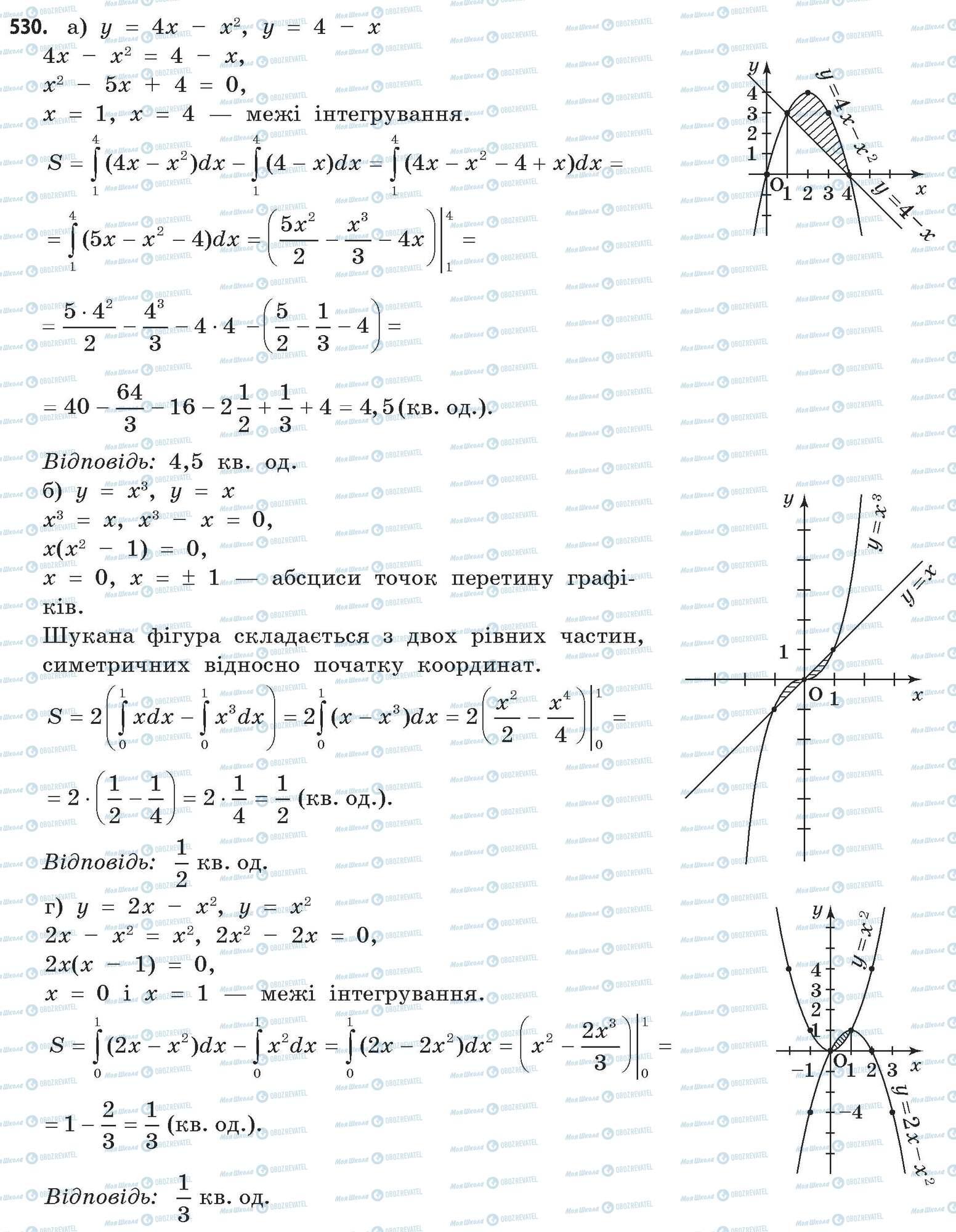 ГДЗ Математика 11 класс страница 530