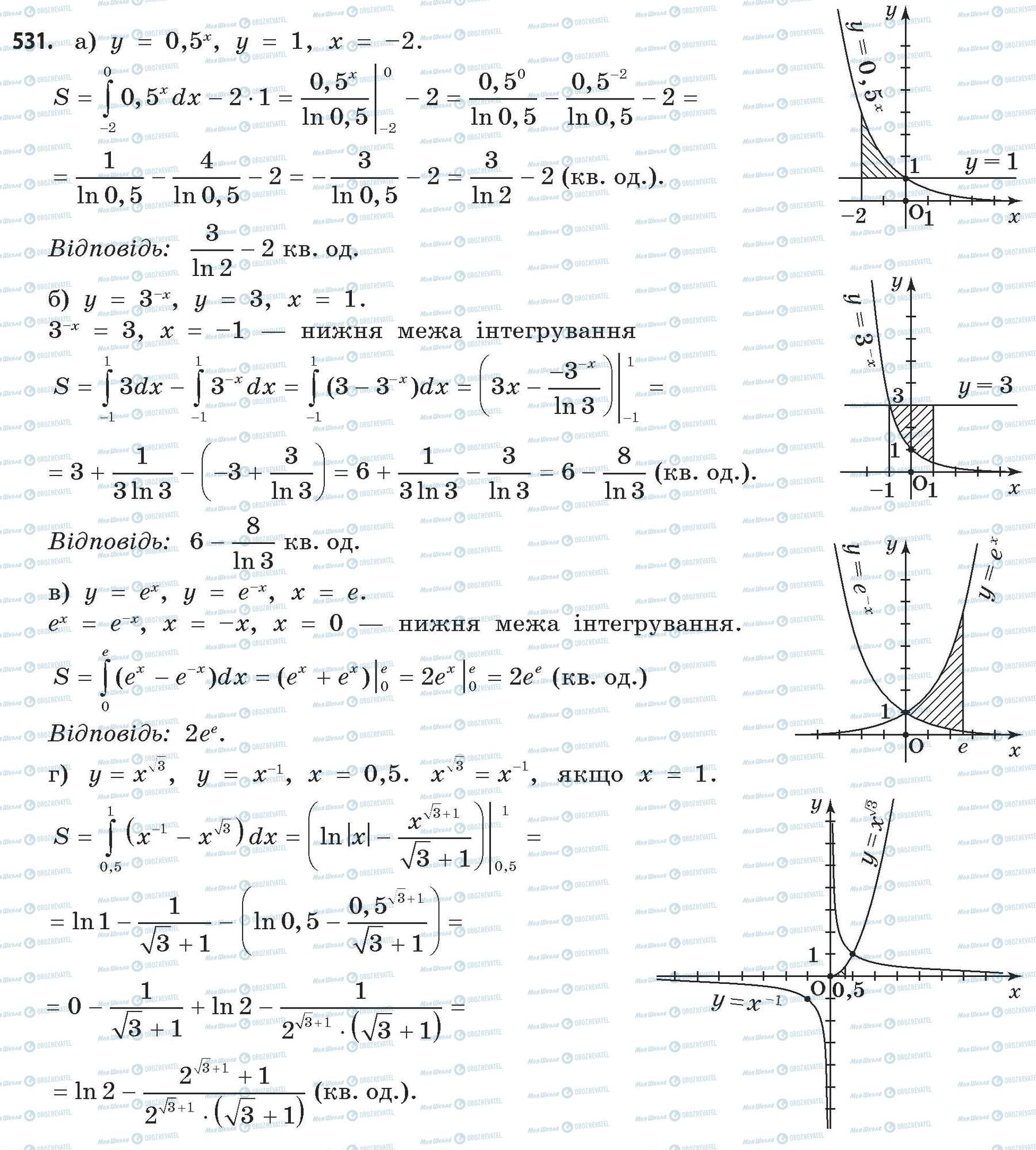 ГДЗ Математика 11 класс страница 531