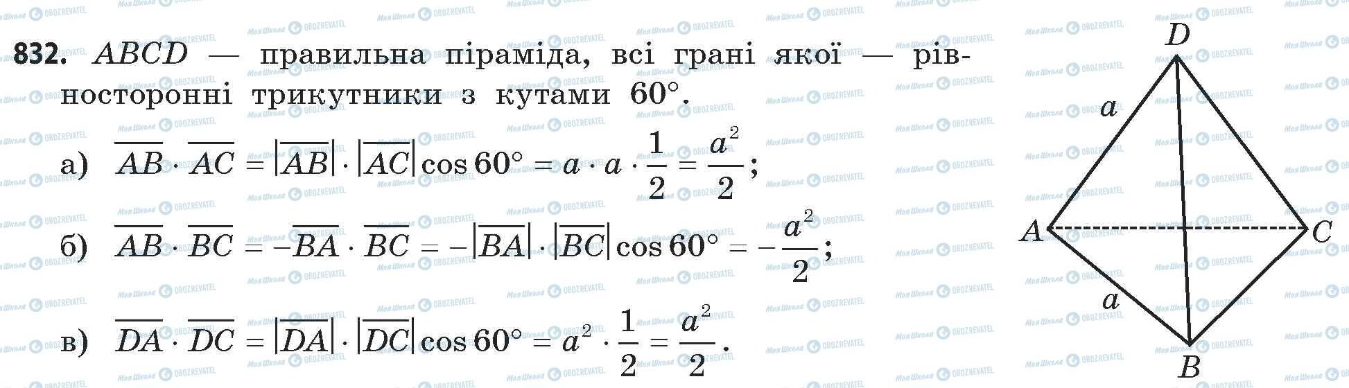 ГДЗ Математика 11 класс страница 832