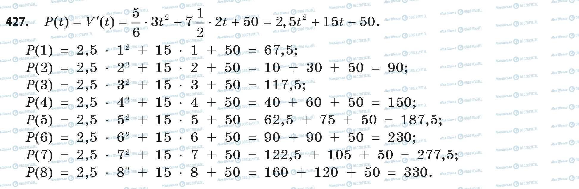 ГДЗ Математика 11 класс страница 427