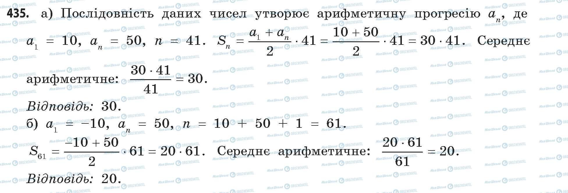 ГДЗ Математика 11 класс страница 435