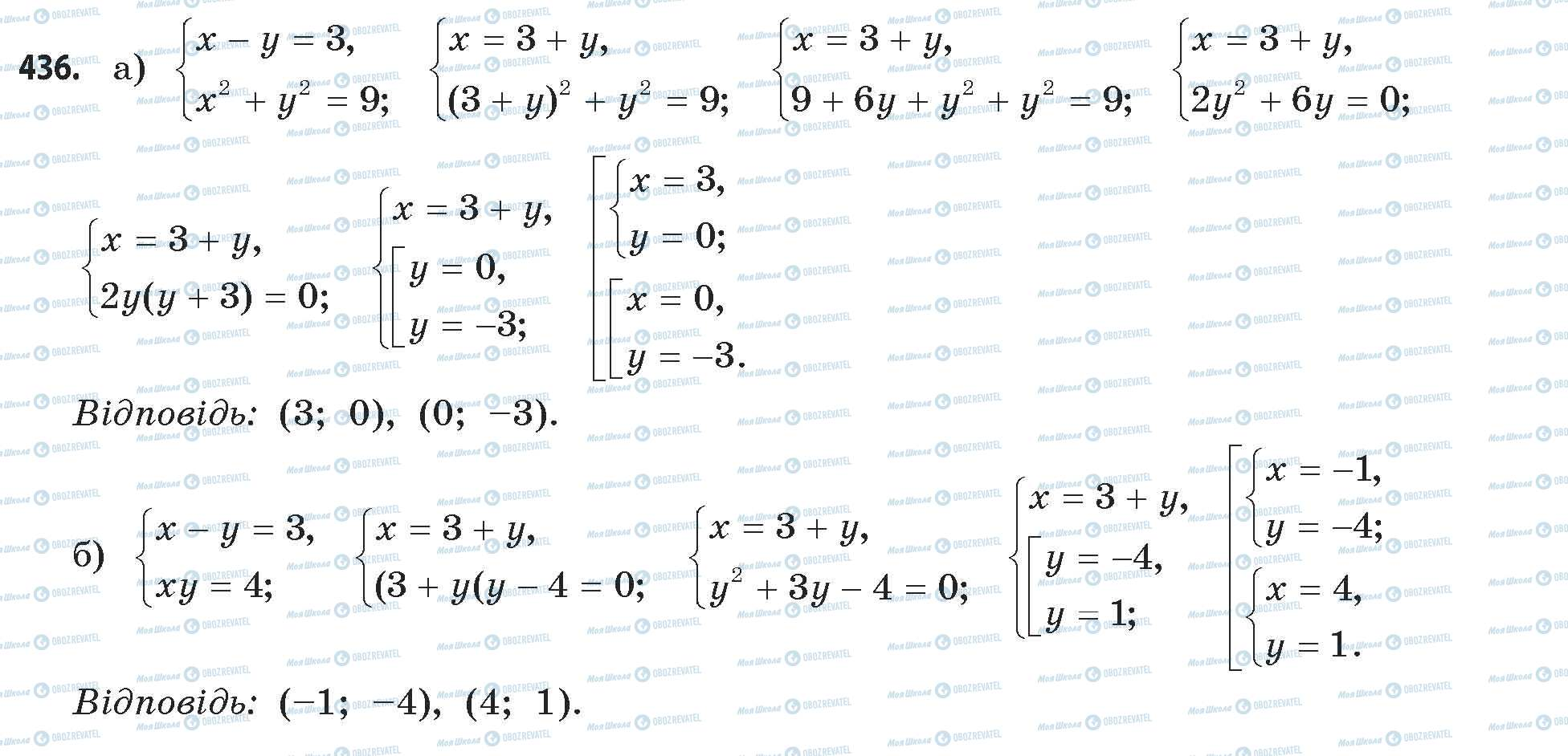 ГДЗ Математика 11 класс страница 436