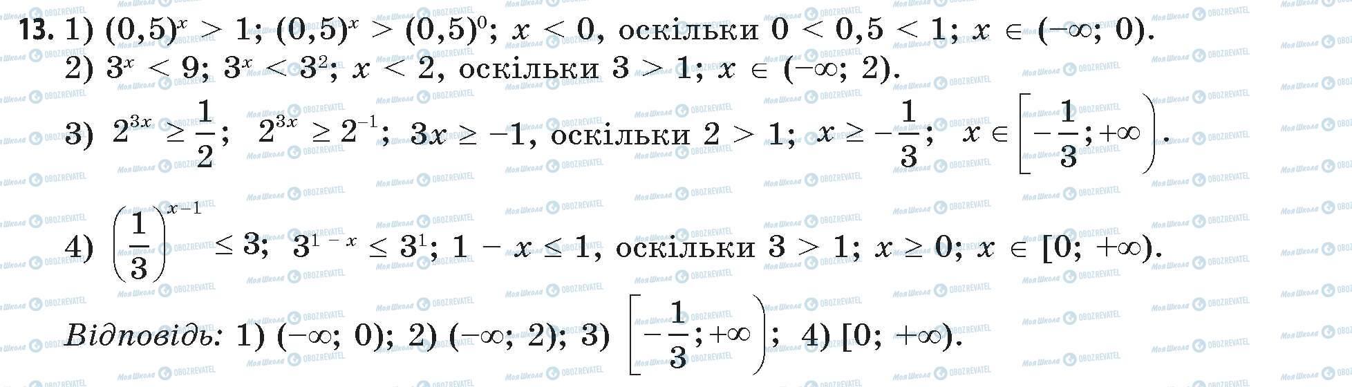 ГДЗ Математика 11 клас сторінка 13
