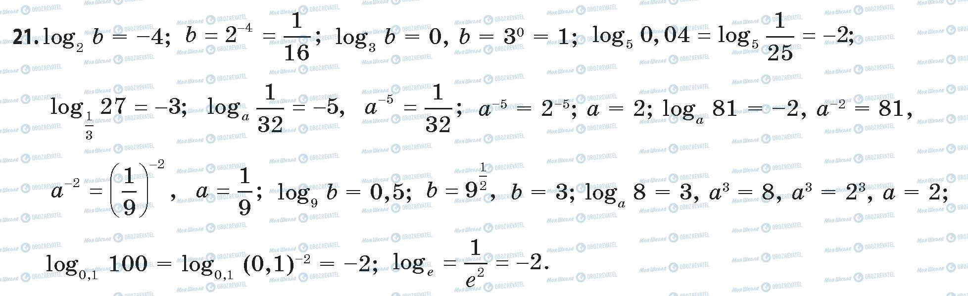 ГДЗ Математика 11 класс страница 21