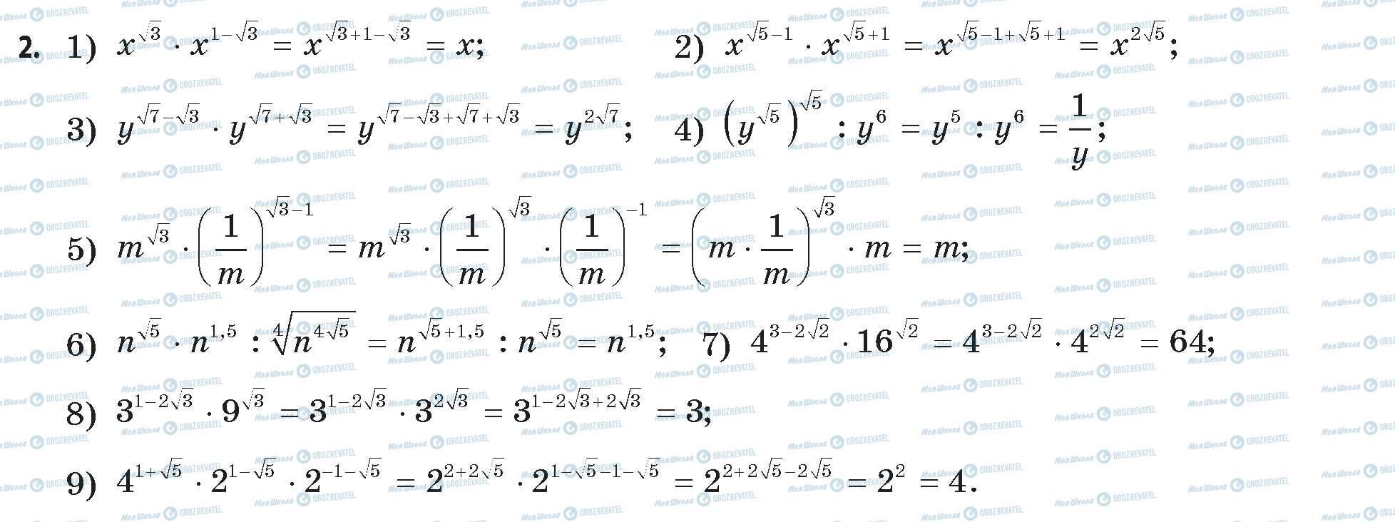 ГДЗ Математика 11 клас сторінка 2