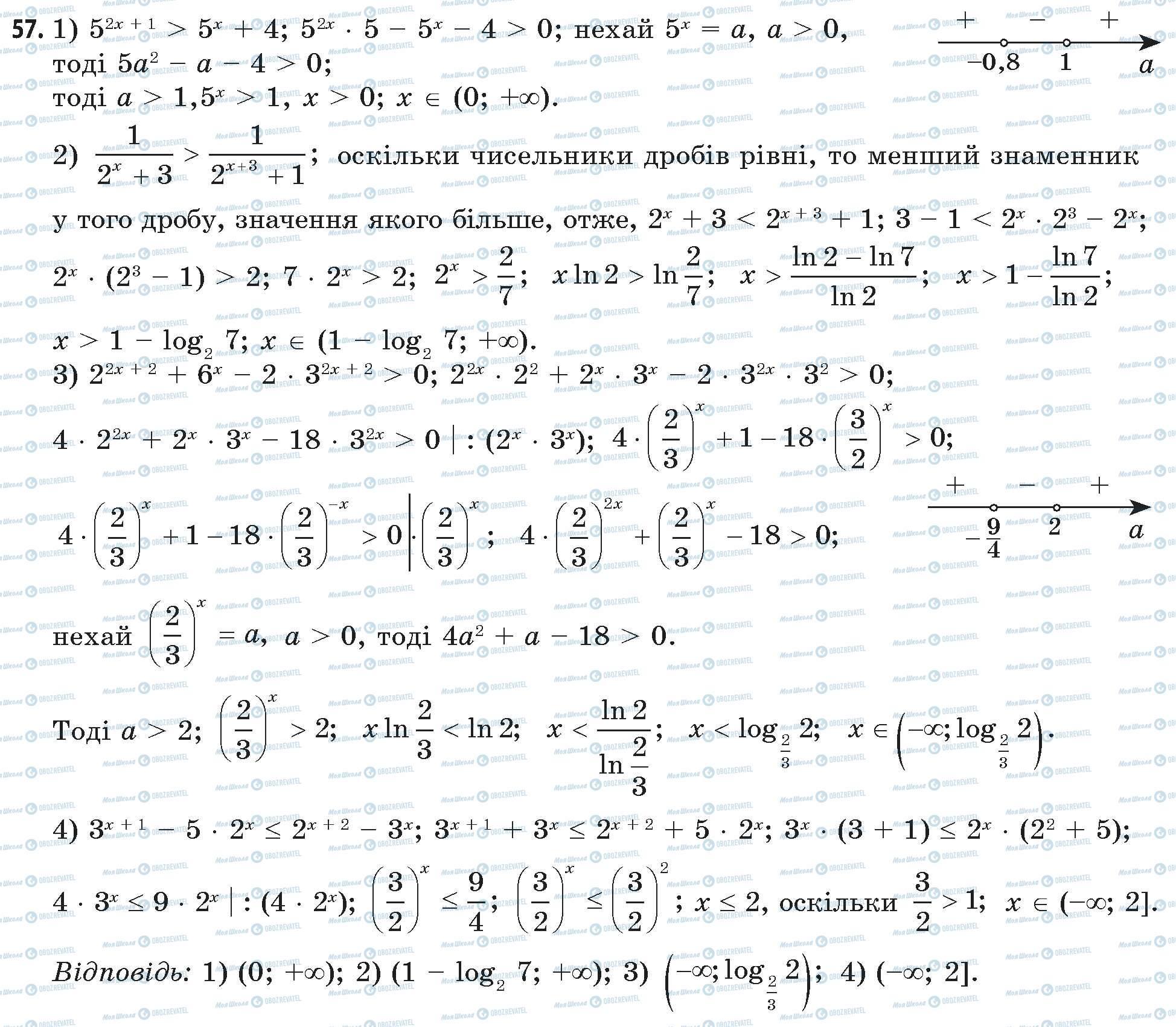 ГДЗ Математика 11 клас сторінка 57