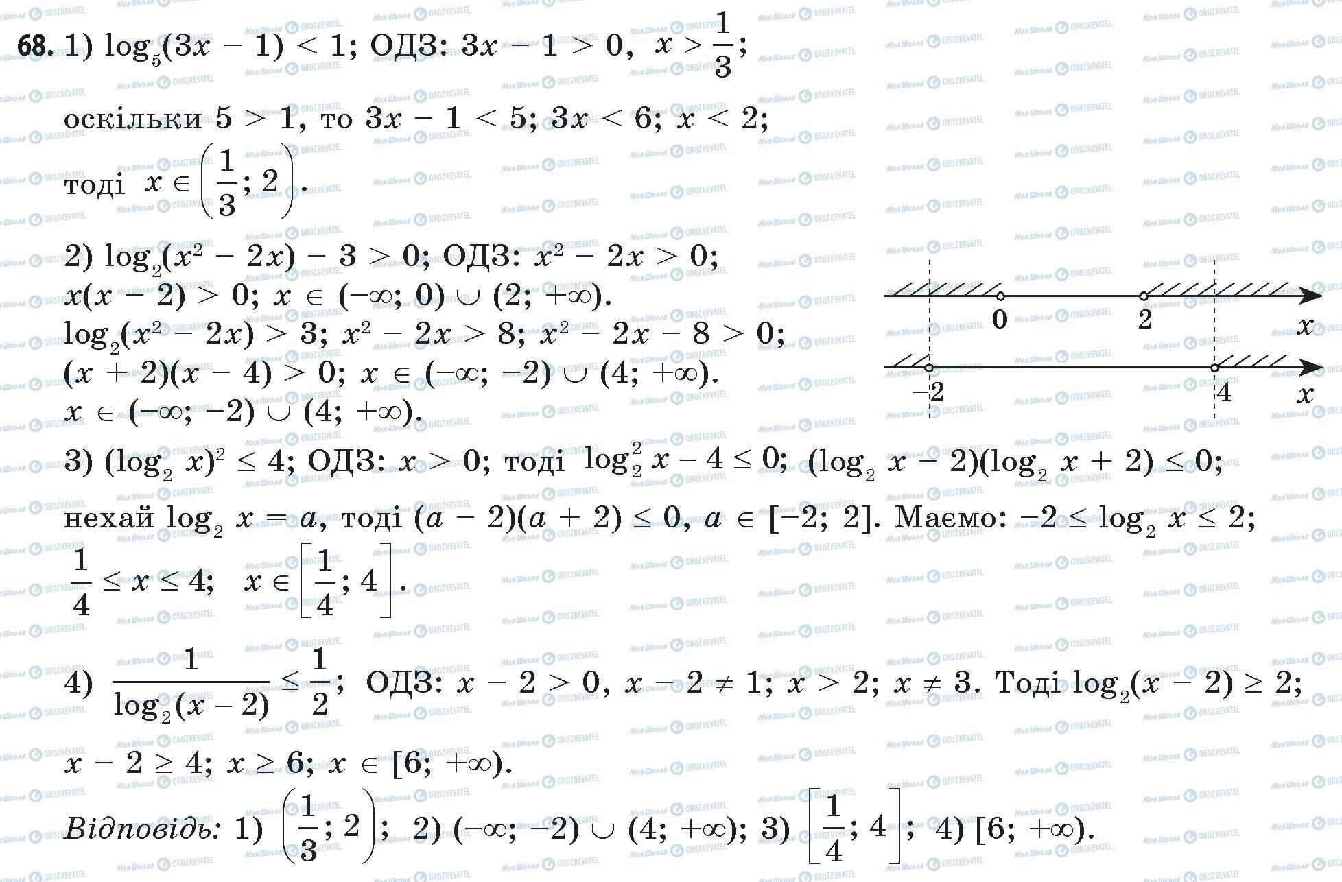 ГДЗ Математика 11 класс страница 68