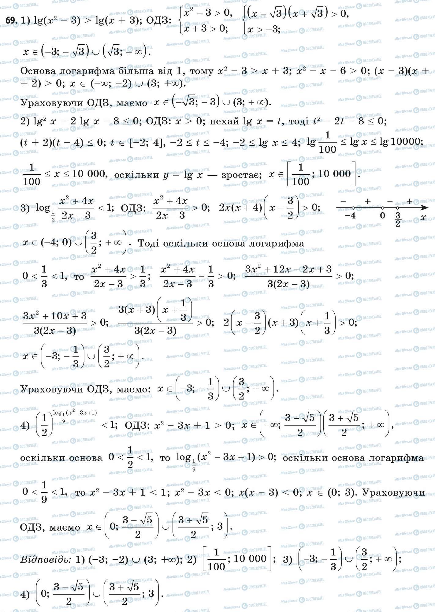 ГДЗ Математика 11 класс страница 69