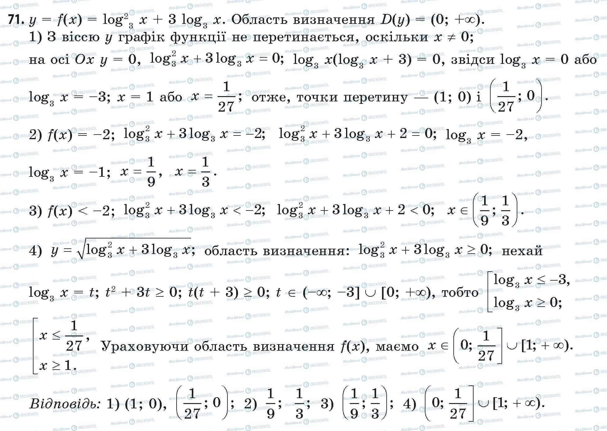 ГДЗ Математика 11 класс страница 71