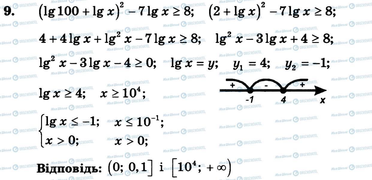 ГДЗ Алгебра 11 класс страница 9