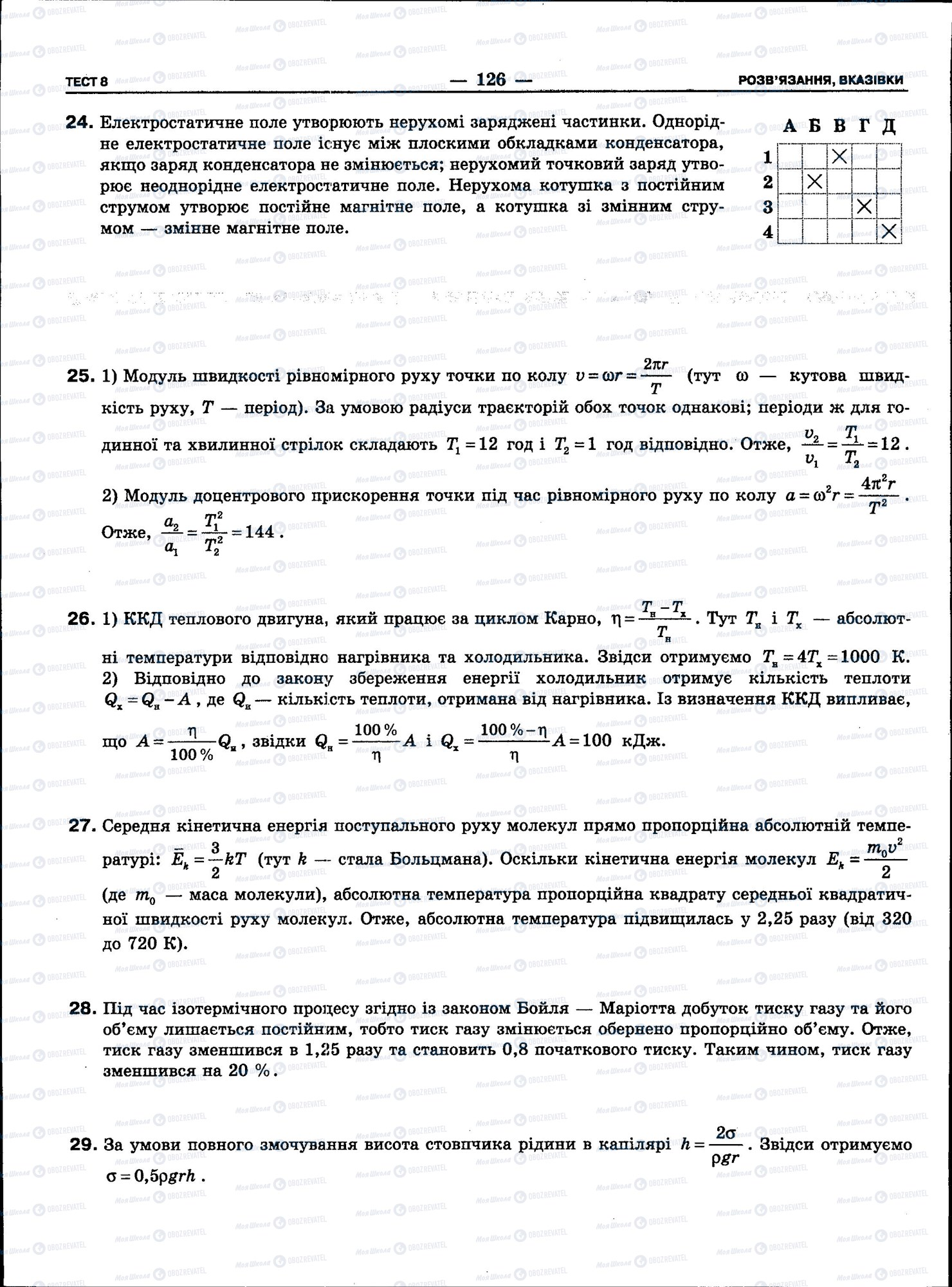 ЗНО Фізика 11 клас сторінка 126