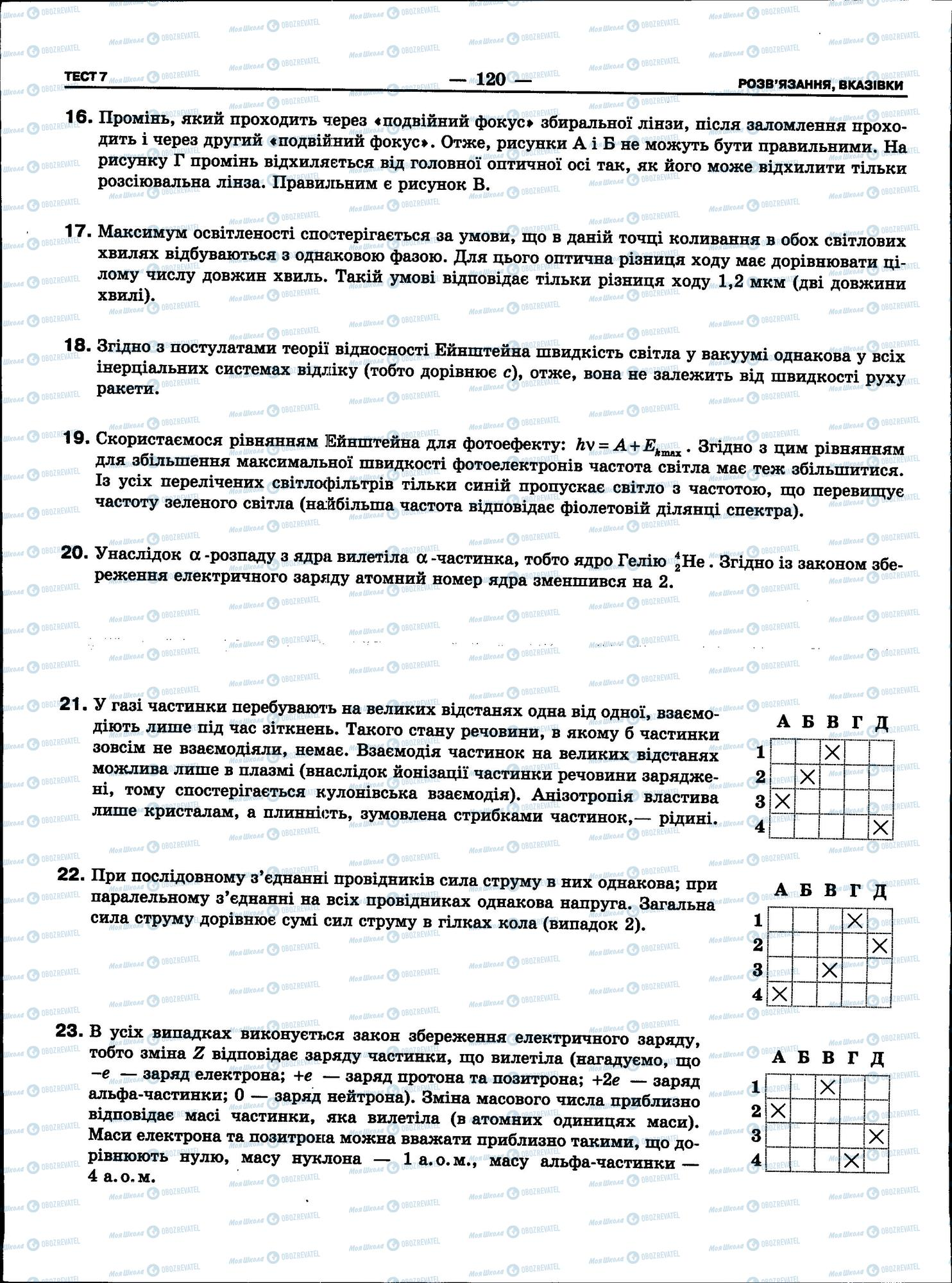 ЗНО Фізика 11 клас сторінка 120