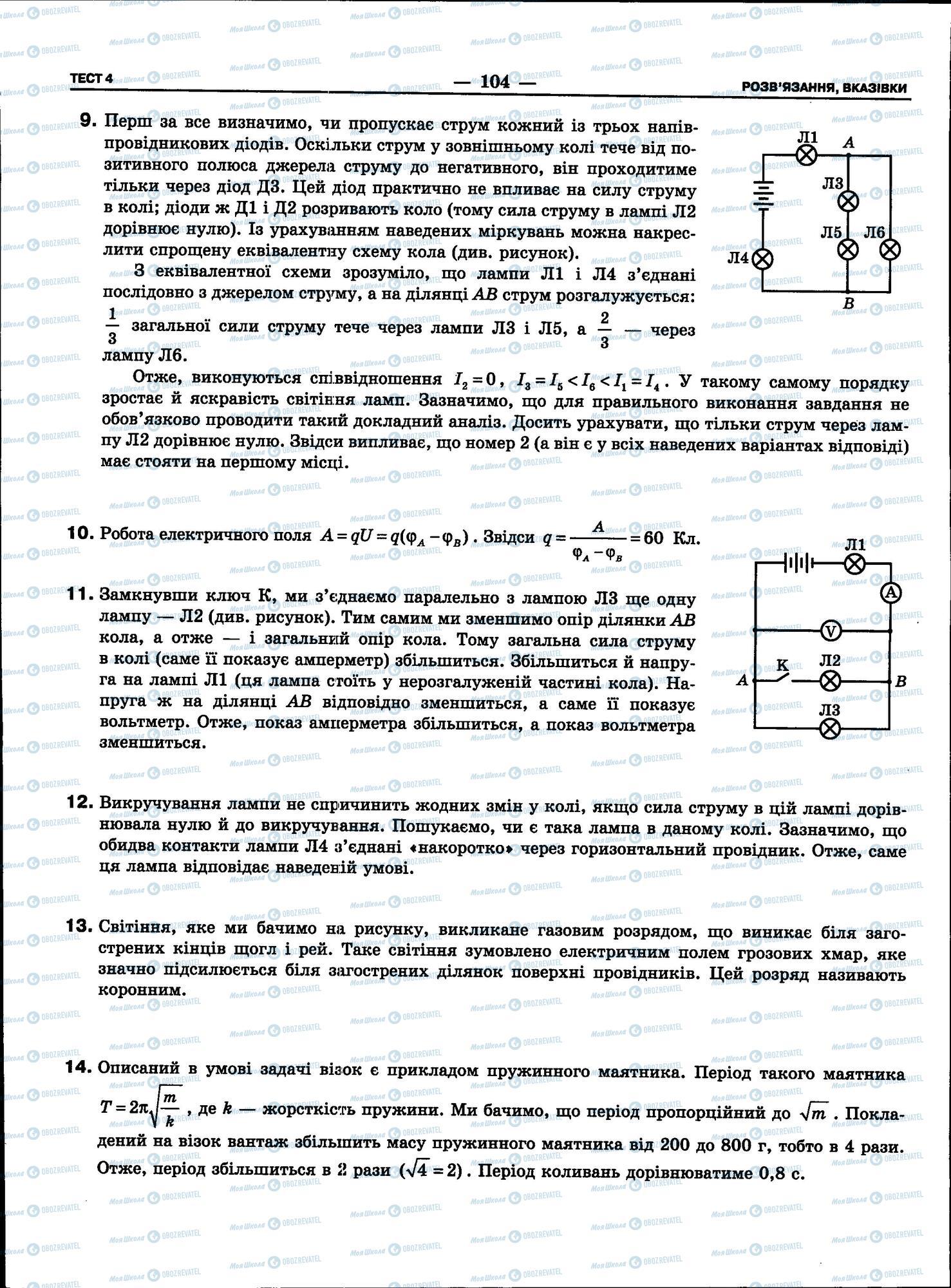 ЗНО Физика 11 класс страница 104