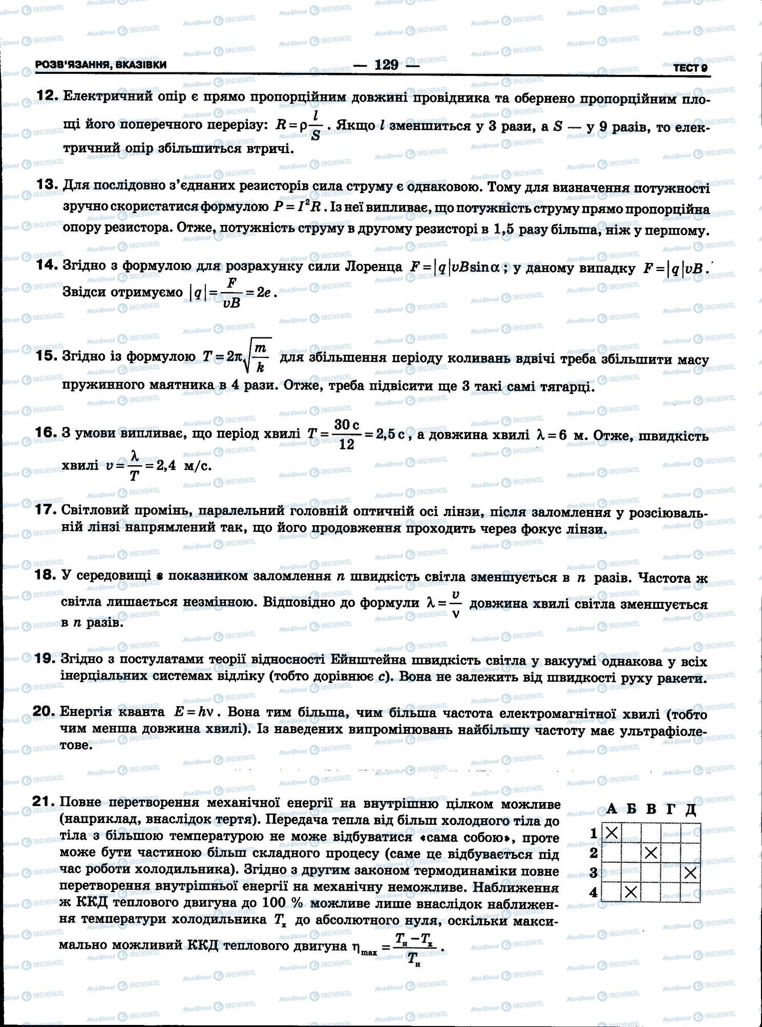 ЗНО Фізика 11 клас сторінка 129