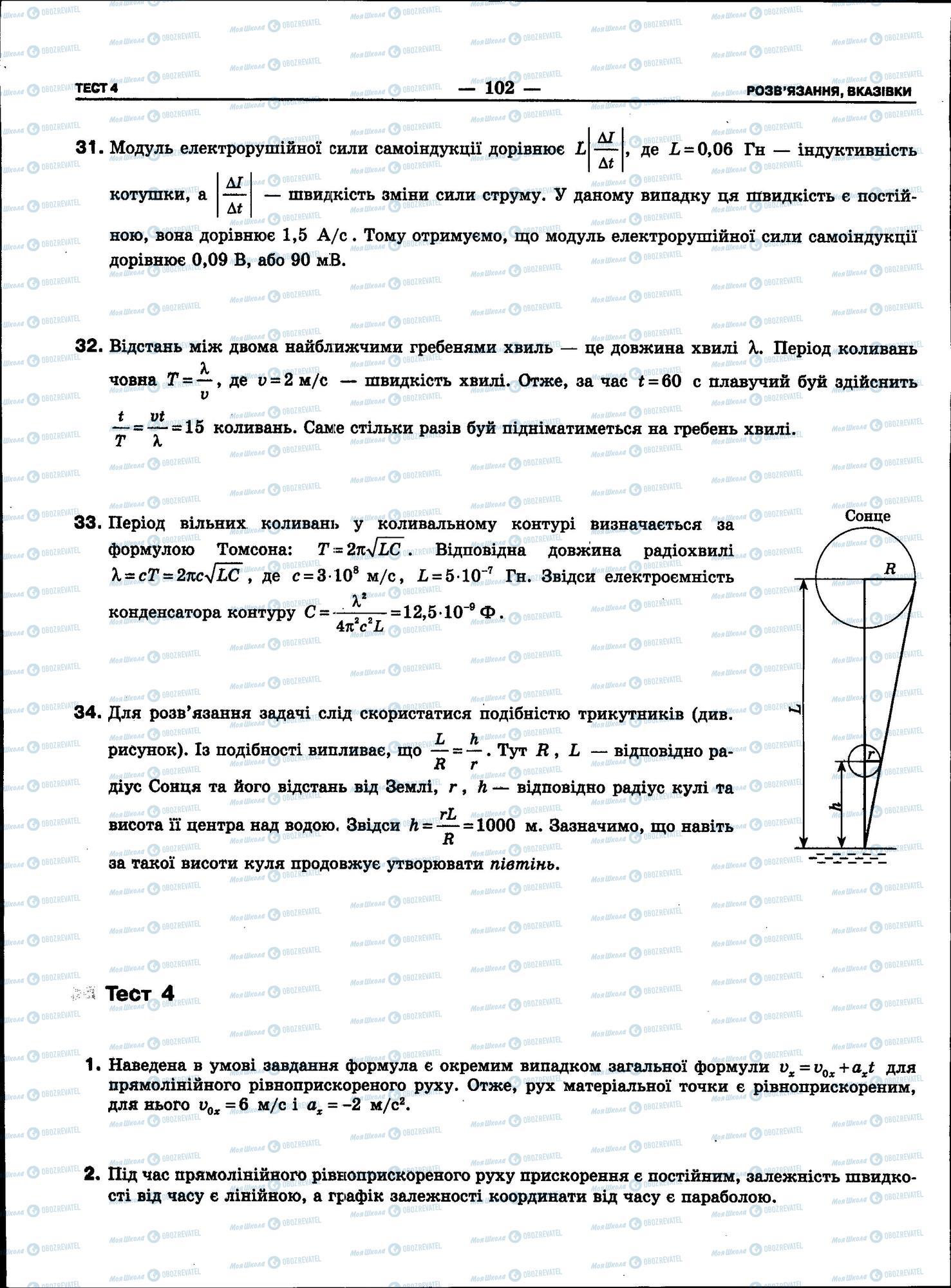 ЗНО Фізика 11 клас сторінка 102