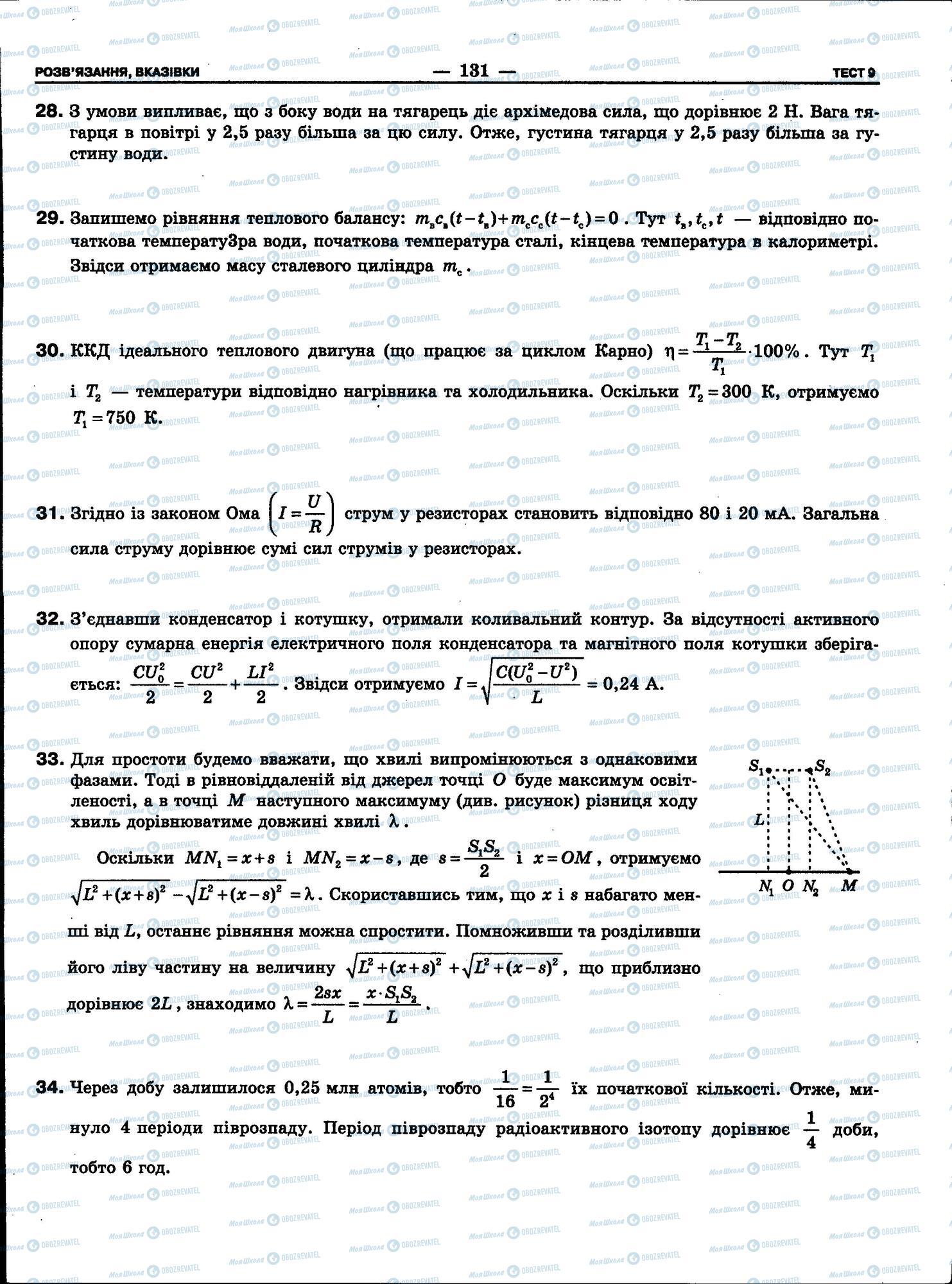 ЗНО Фізика 11 клас сторінка 131