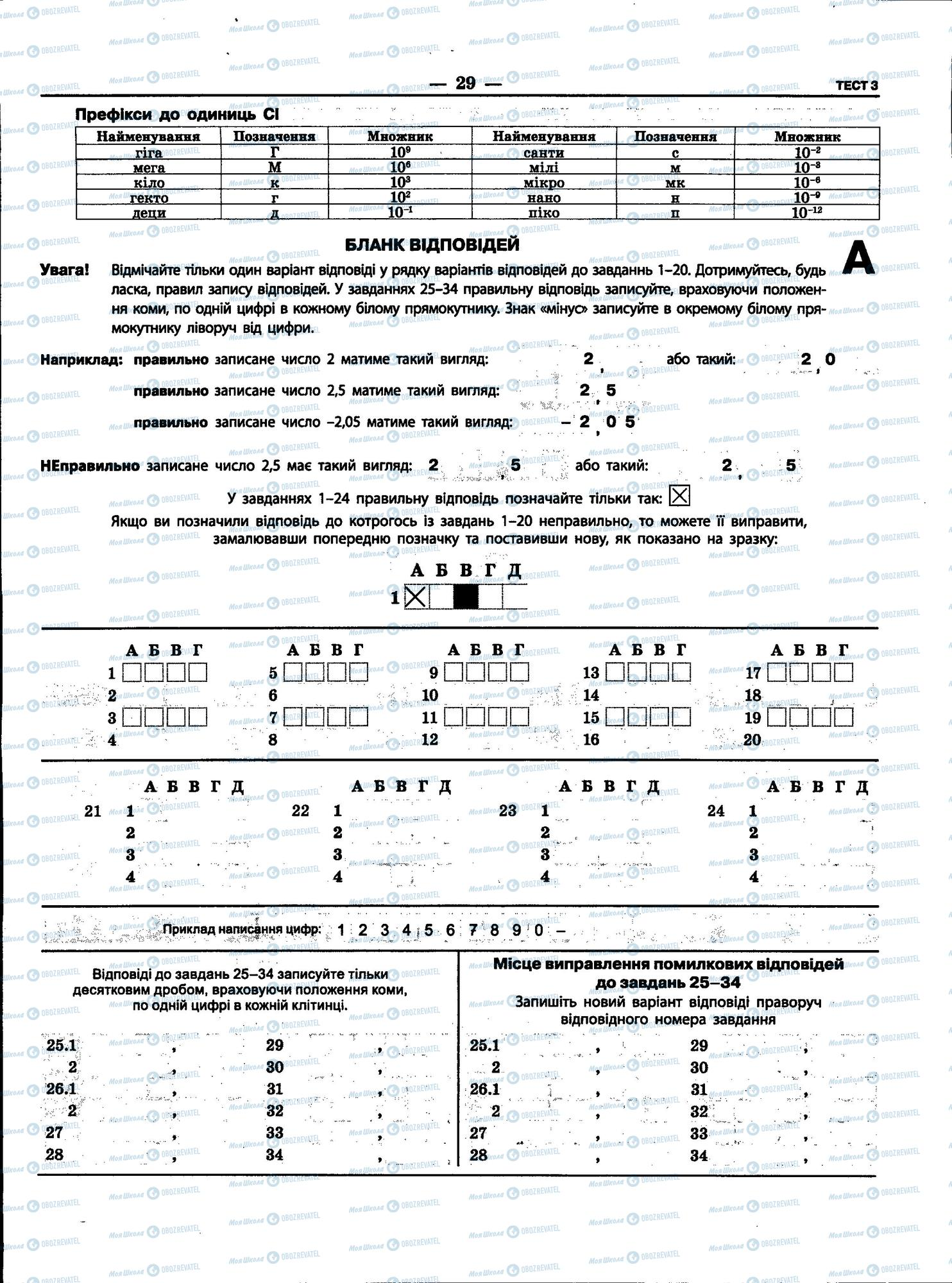 ЗНО Фізика 11 клас сторінка 29