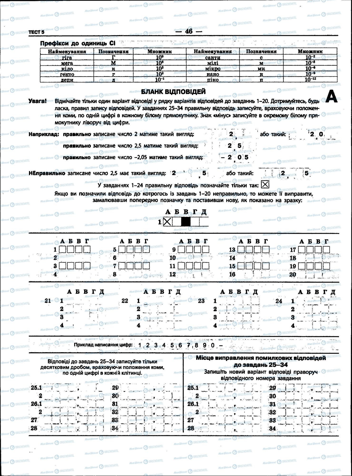 ЗНО Фізика 11 клас сторінка 46