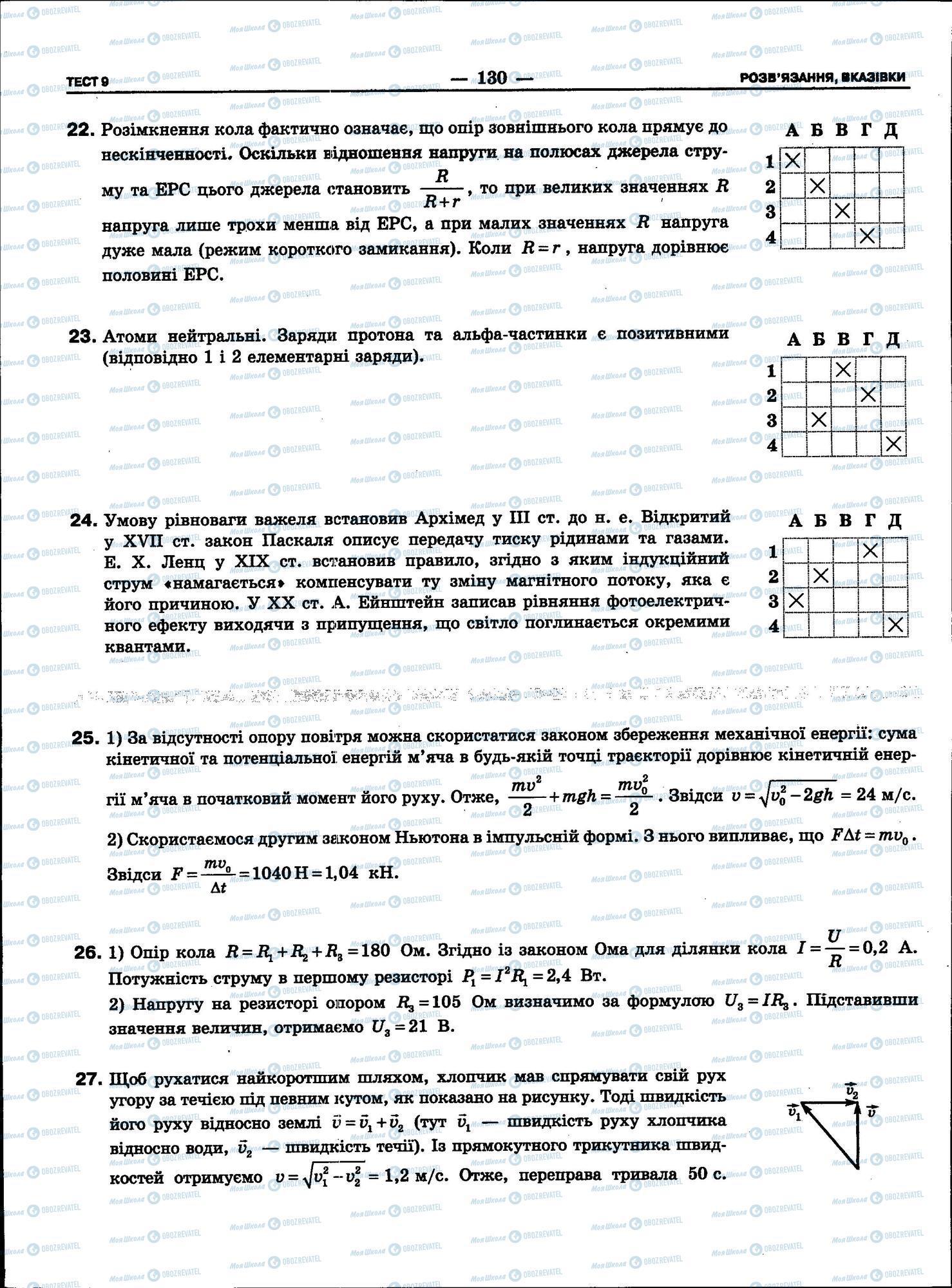 ЗНО Фізика 11 клас сторінка 130