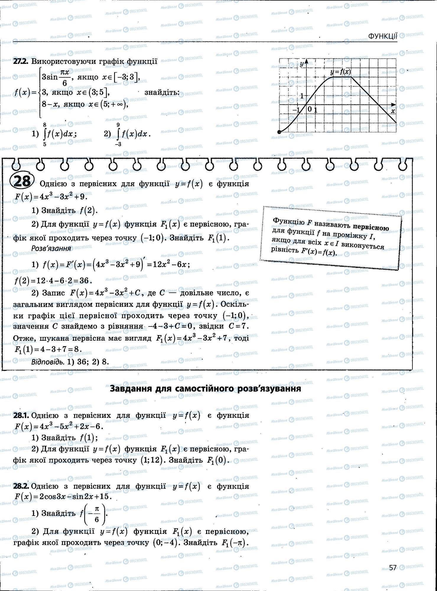 ЗНО Математика 11 класс страница 57
