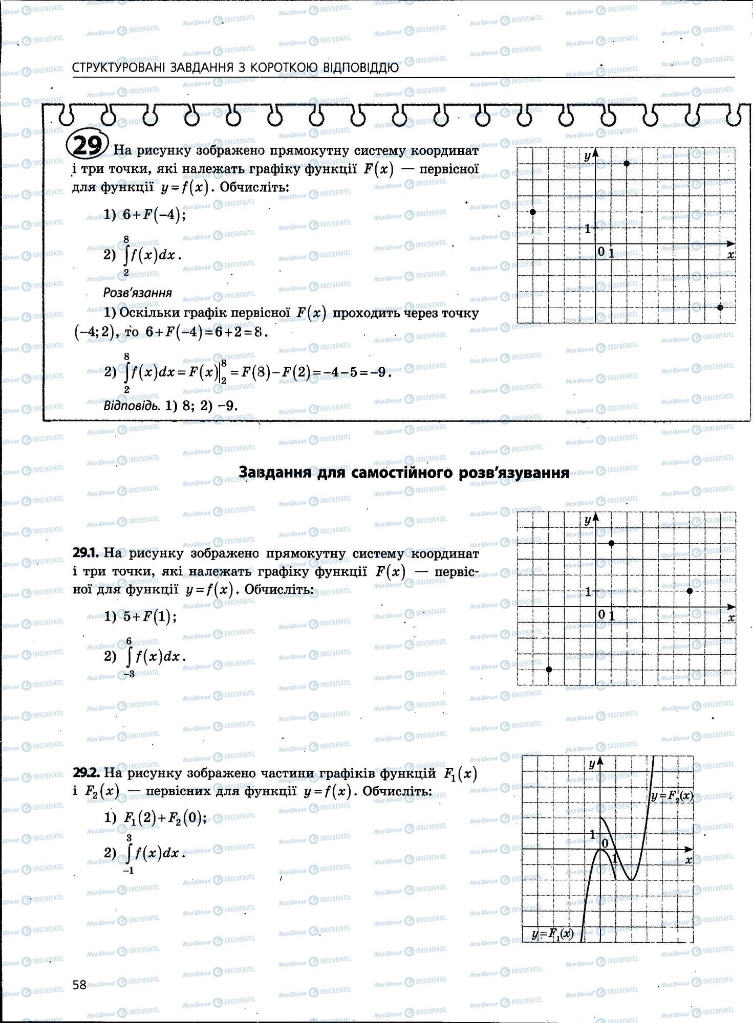 ЗНО Математика 11 класс страница 58