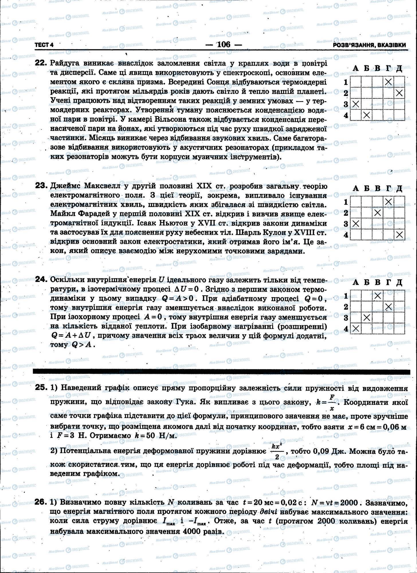 ЗНО Фізика 11 клас сторінка 106