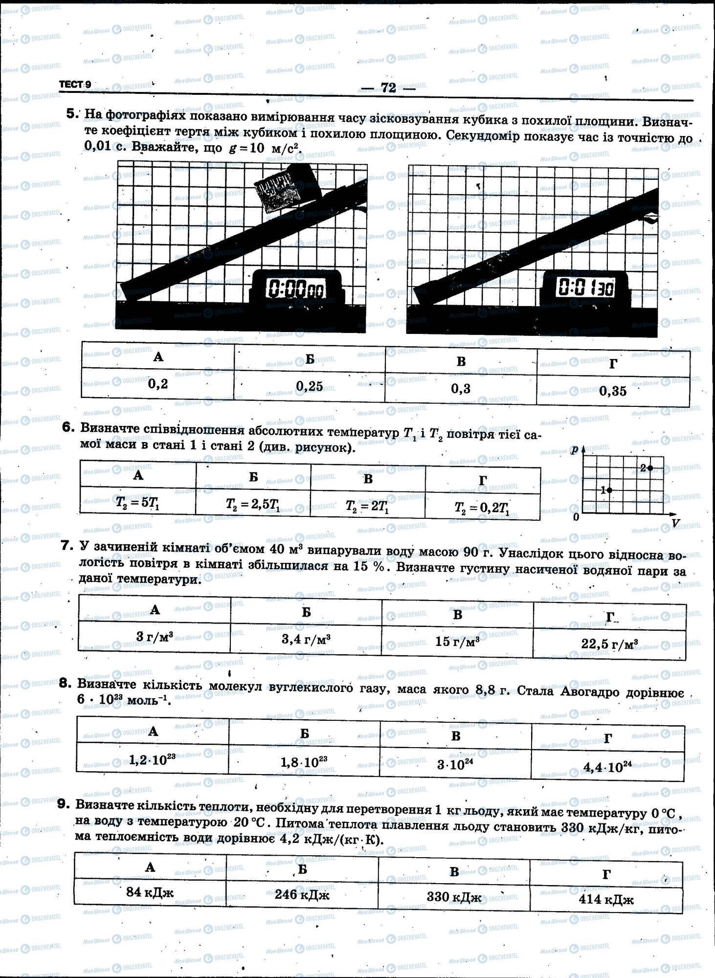 ЗНО Физика 11 класс страница 072