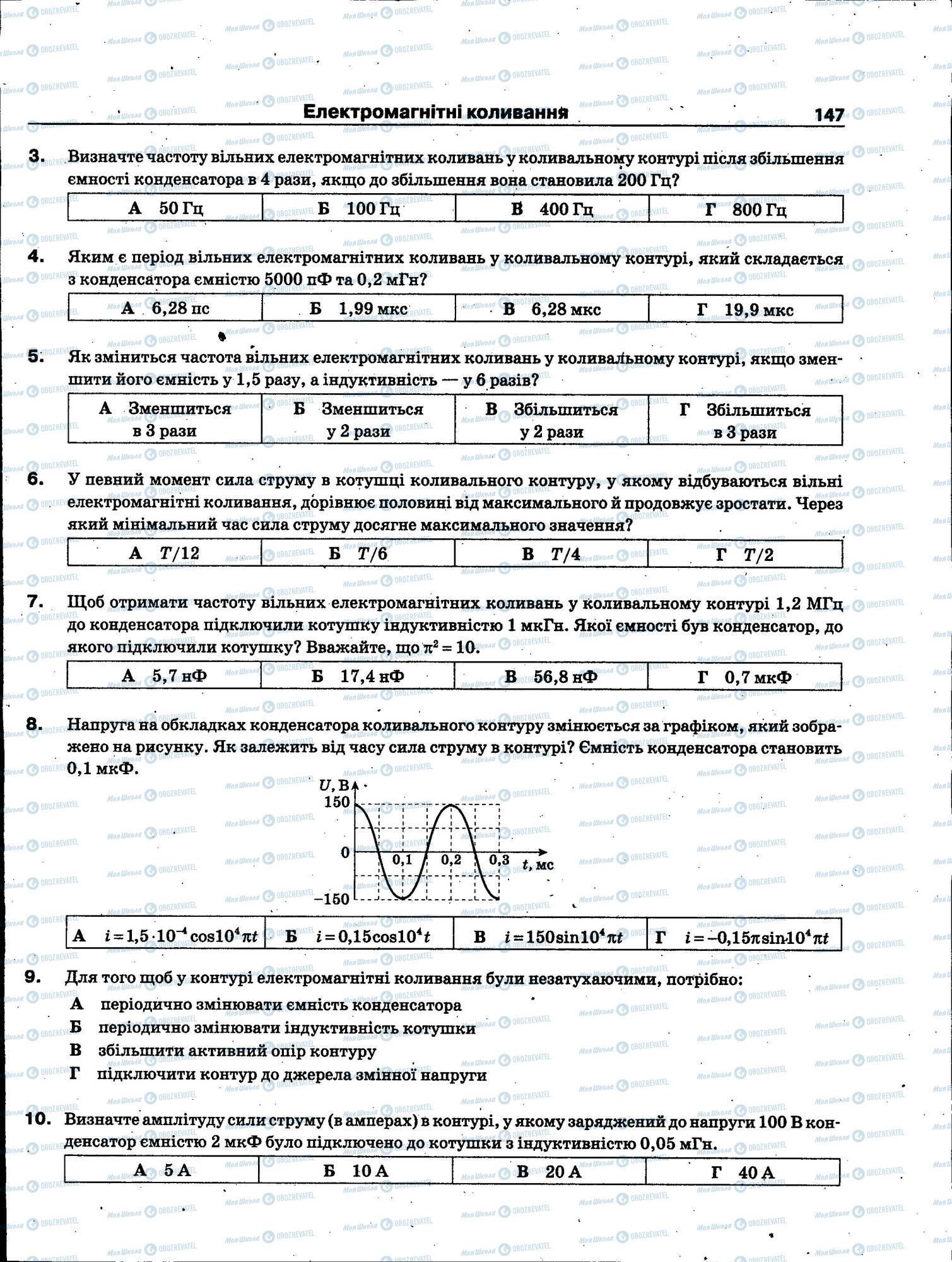 ЗНО Физика 11 класс страница 147