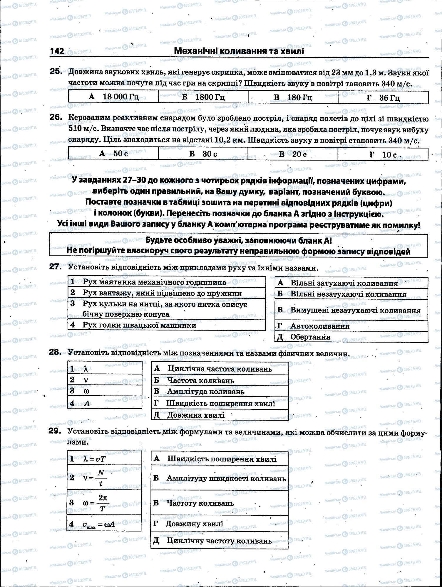 ЗНО Фізика 11 клас сторінка 142