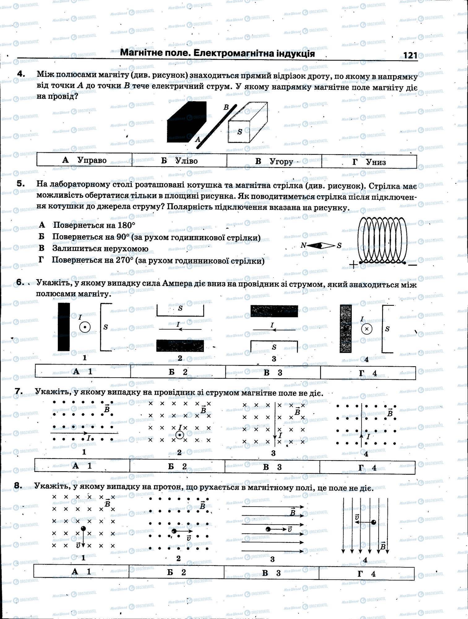 ЗНО Физика 11 класс страница 121