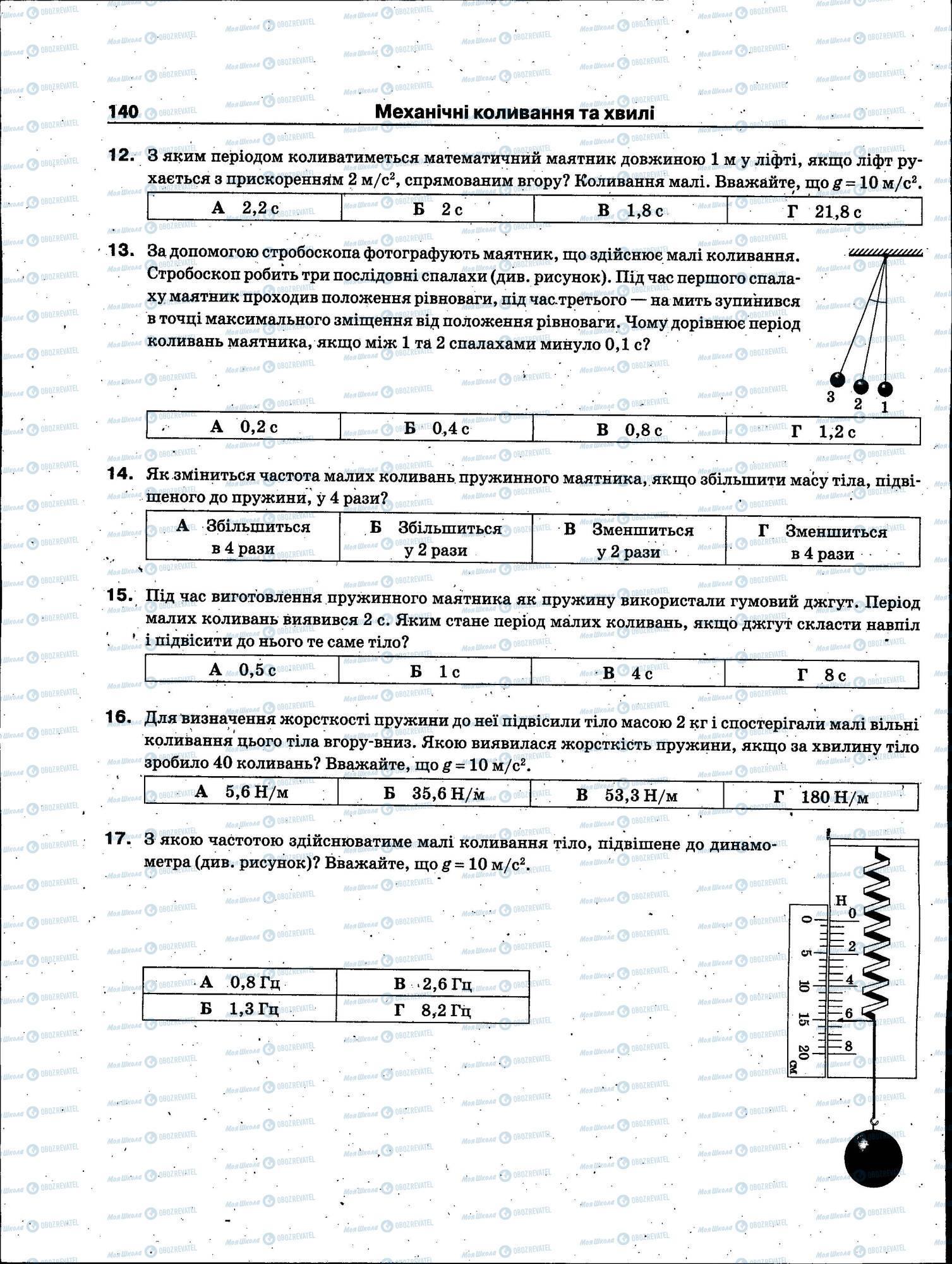 ЗНО Фізика 11 клас сторінка 140