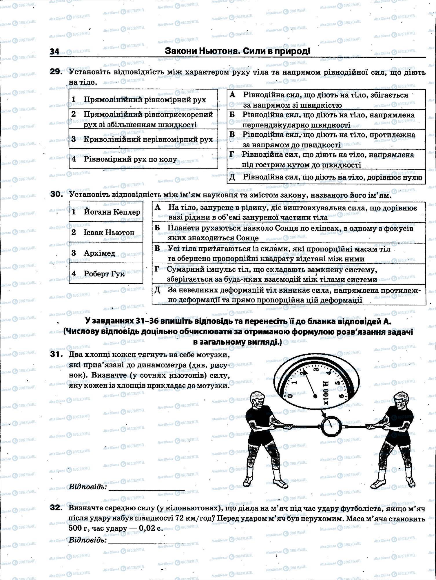 ЗНО Фізика 11 клас сторінка 034