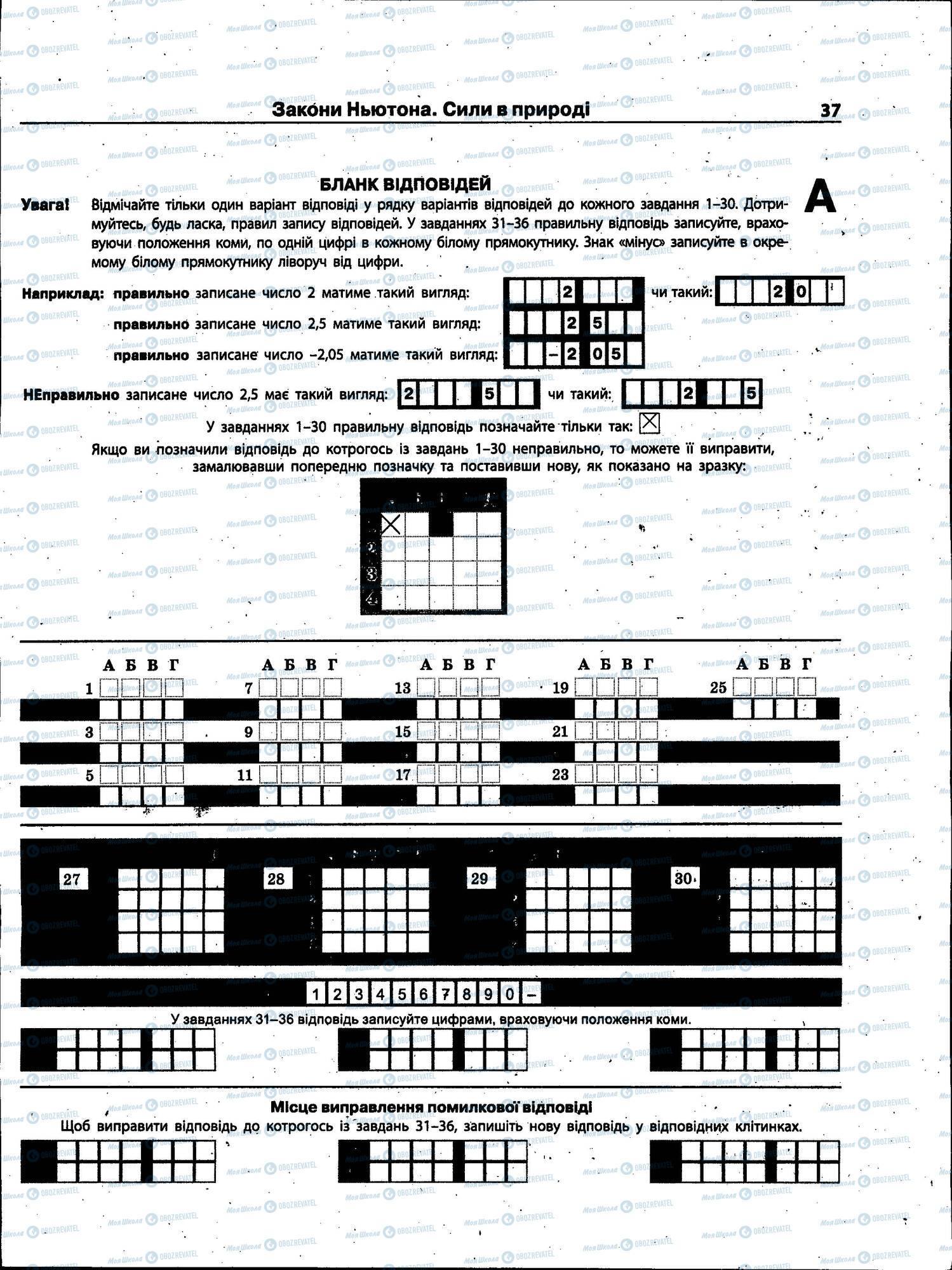 ЗНО Физика 11 класс страница 037