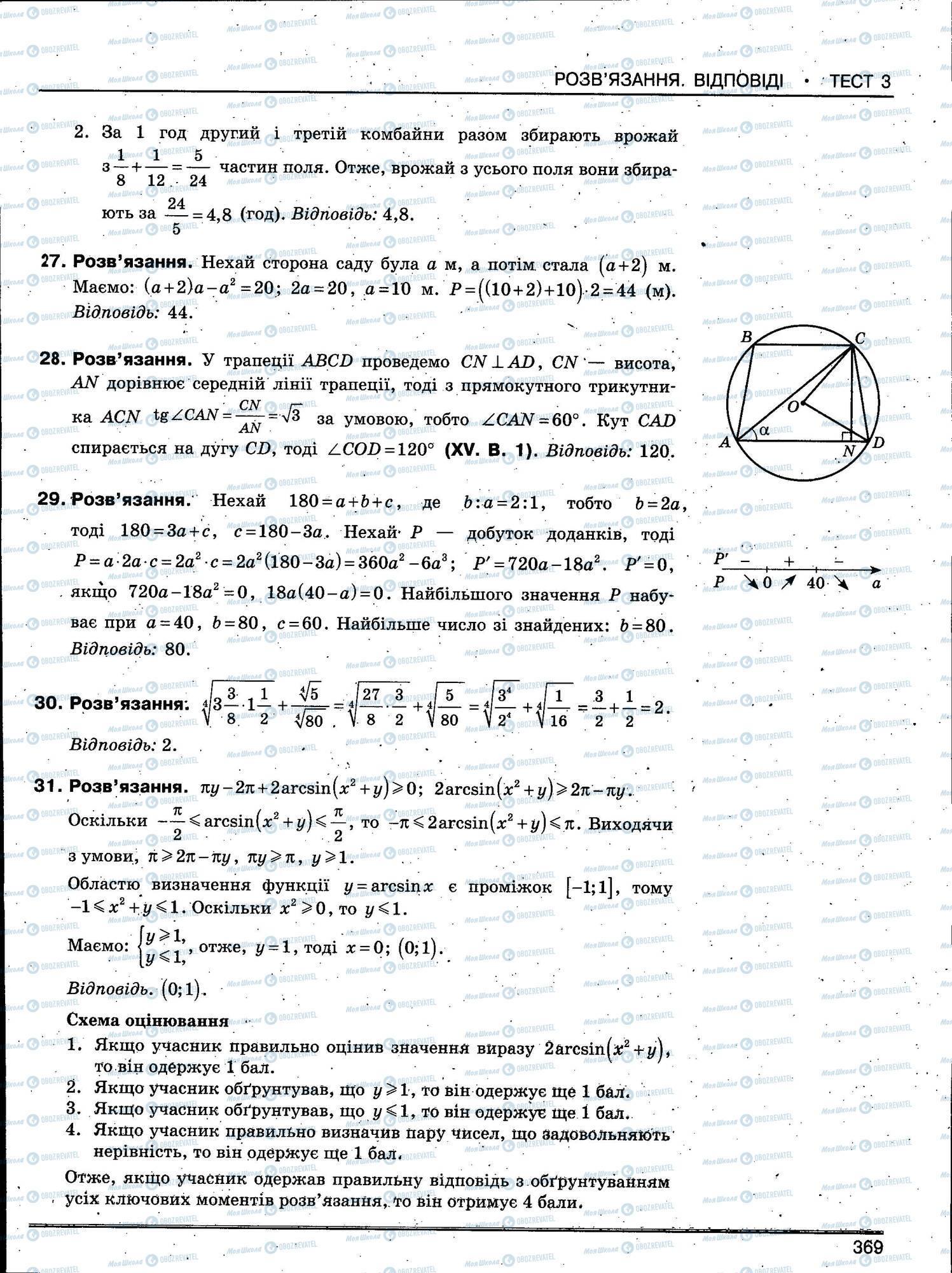 ЗНО Математика 11 класс страница 369