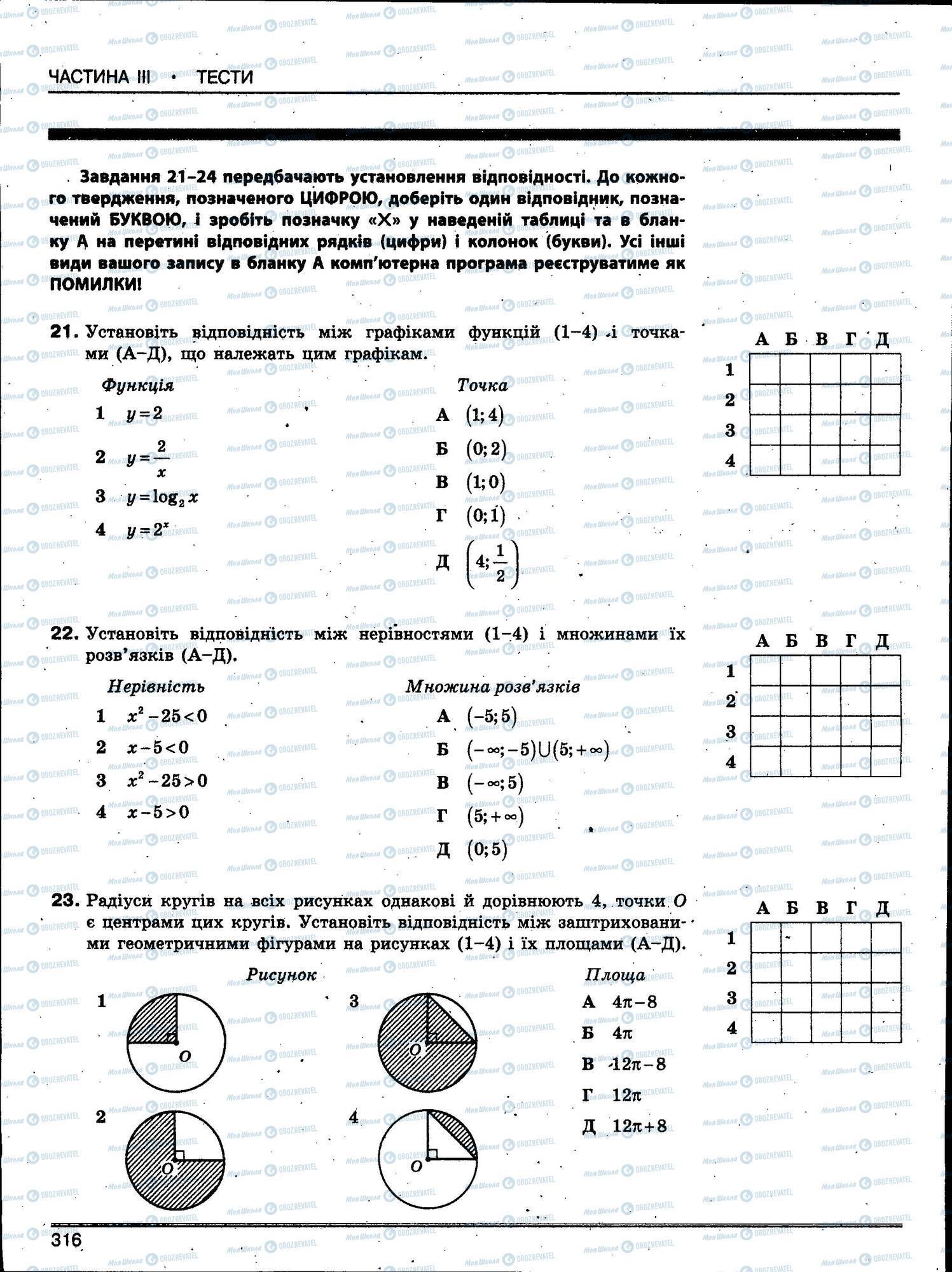 ЗНО Математика 11 класс страница 316