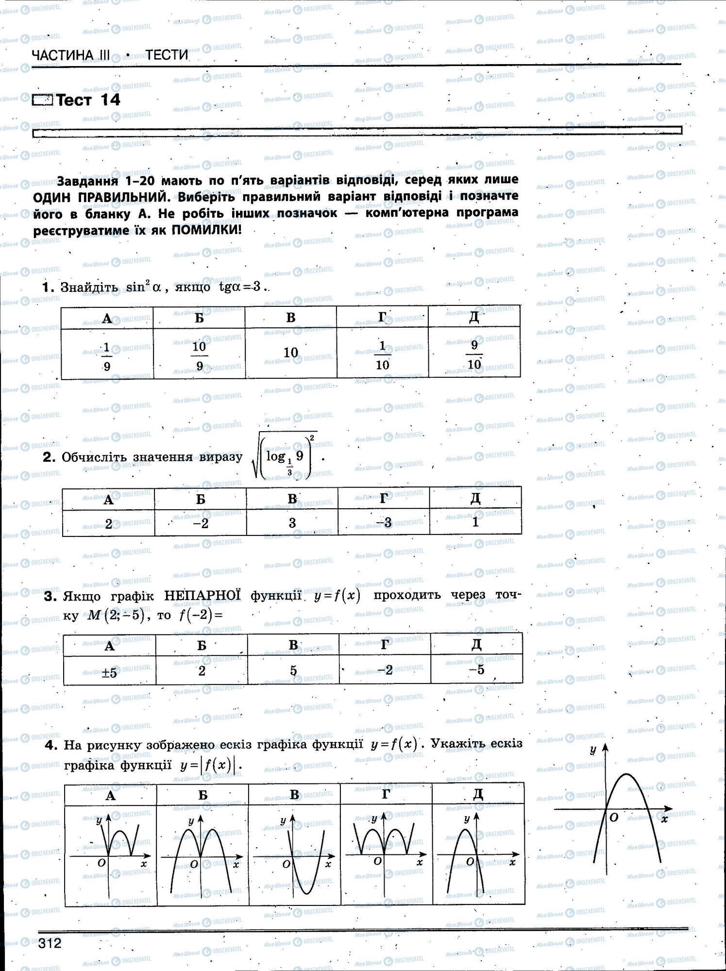 ЗНО Математика 11 класс страница 312