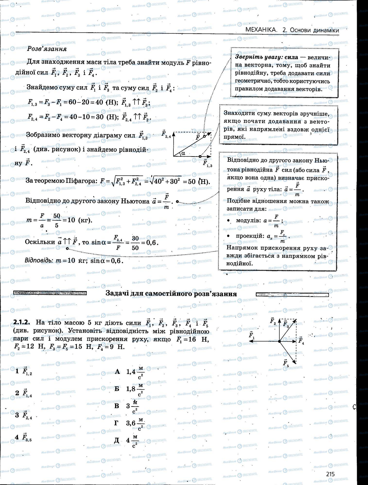 ЗНО Физика 11 класс страница 215