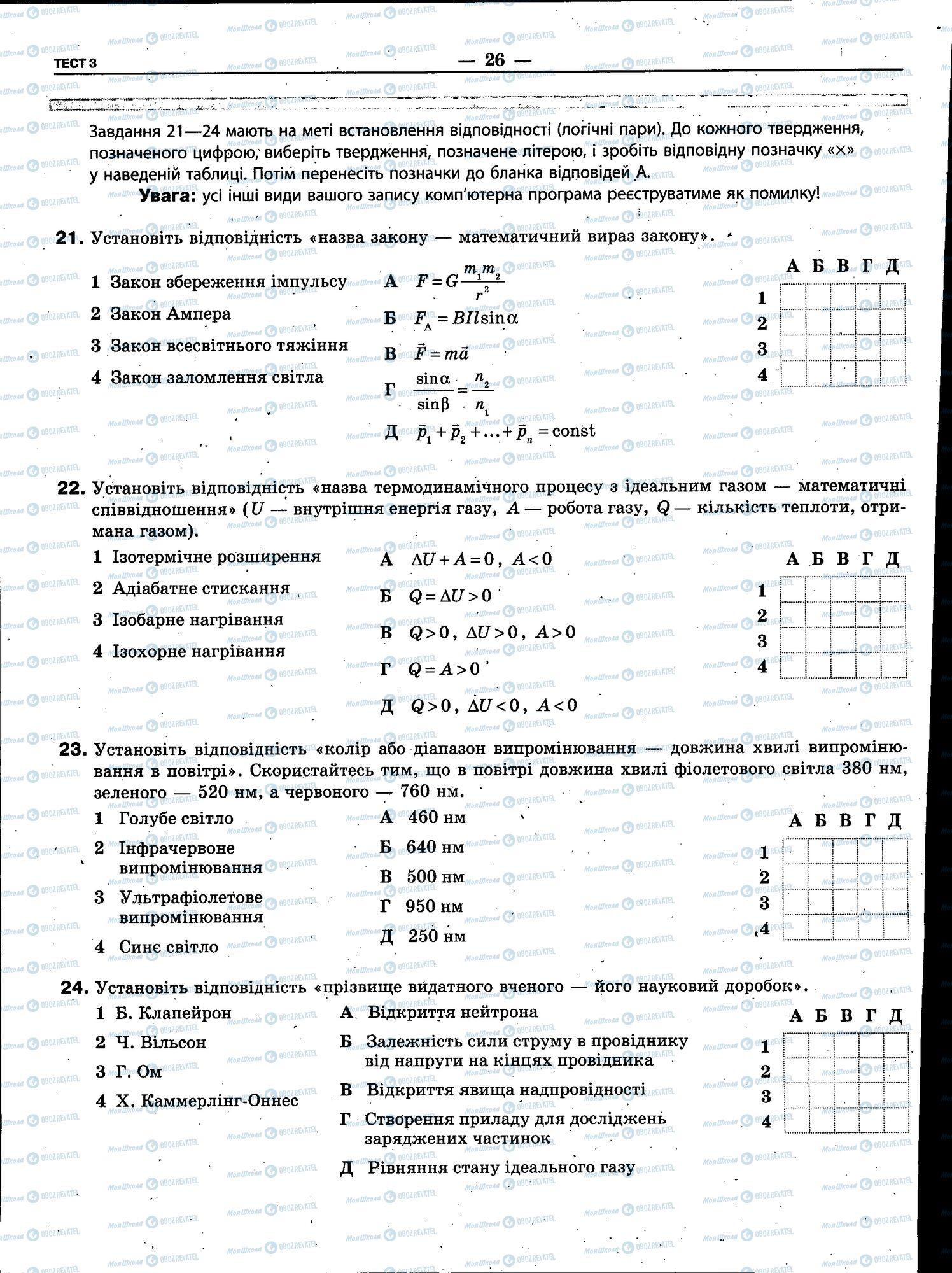 ЗНО Физика 11 класс страница 026