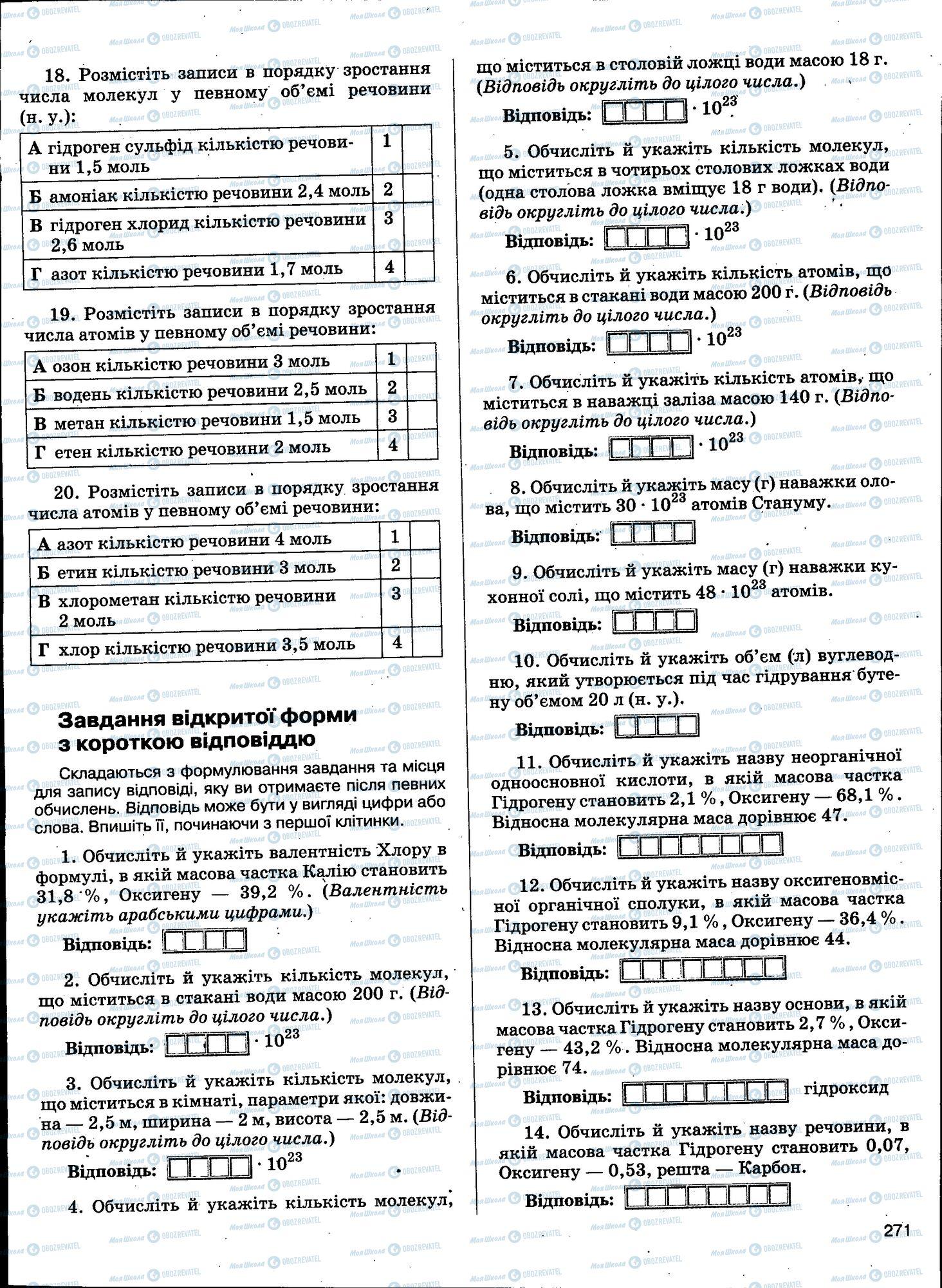 ЗНО Химия 11 класс страница 271