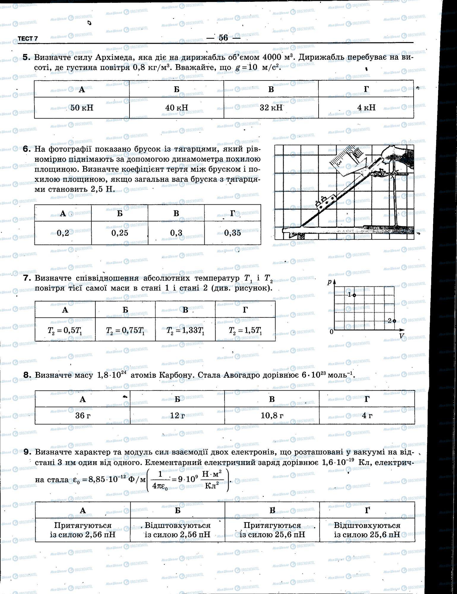 ЗНО Физика 11 класс страница 056