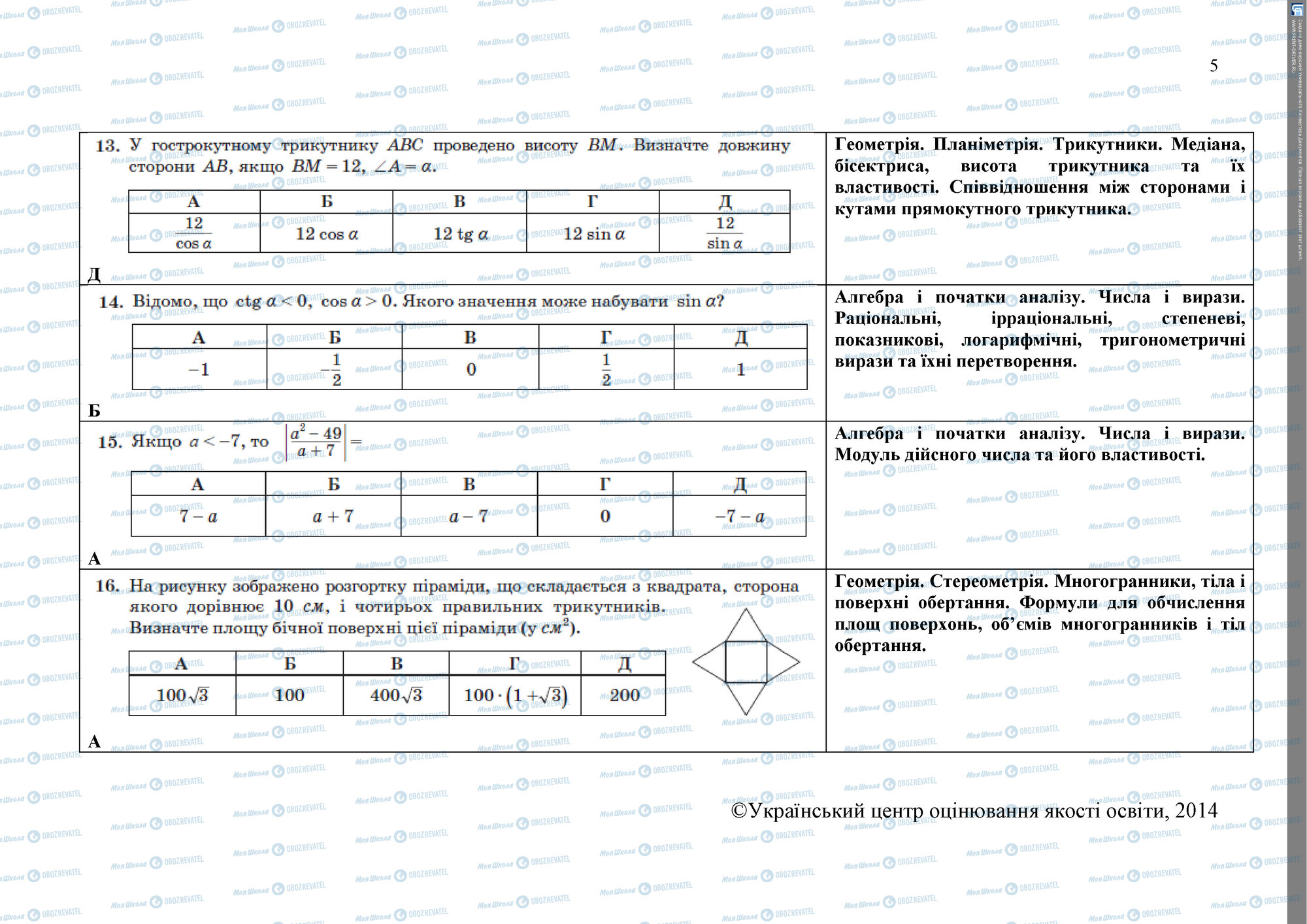 ЗНО Математика 11 класс страница 5